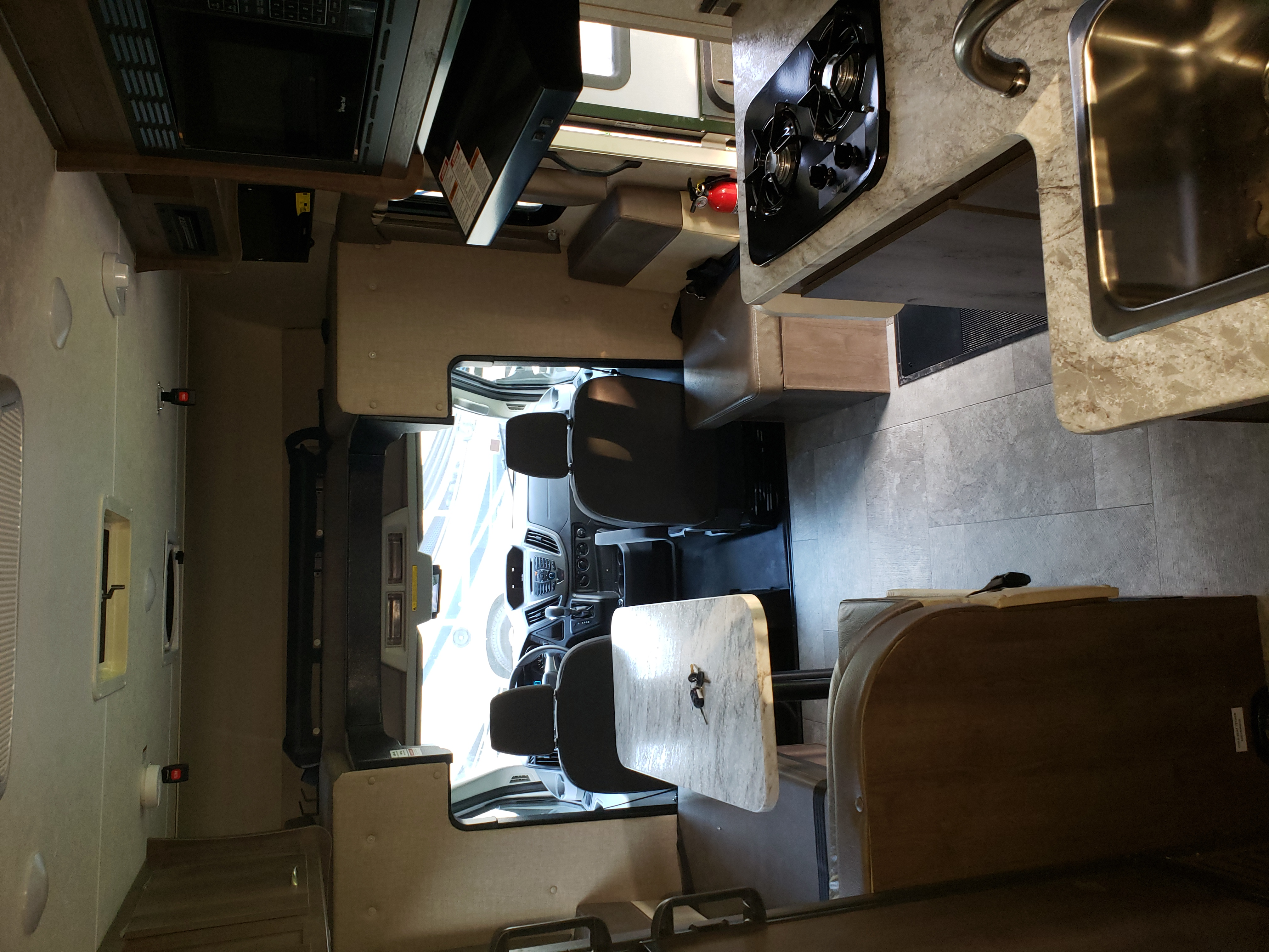 Beautiful roomy interior. Coachmen Orion 2019