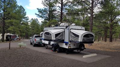 Taken front the back of the camper, side and back drop down bed areas. Jayco Jay Feather Baja 2018