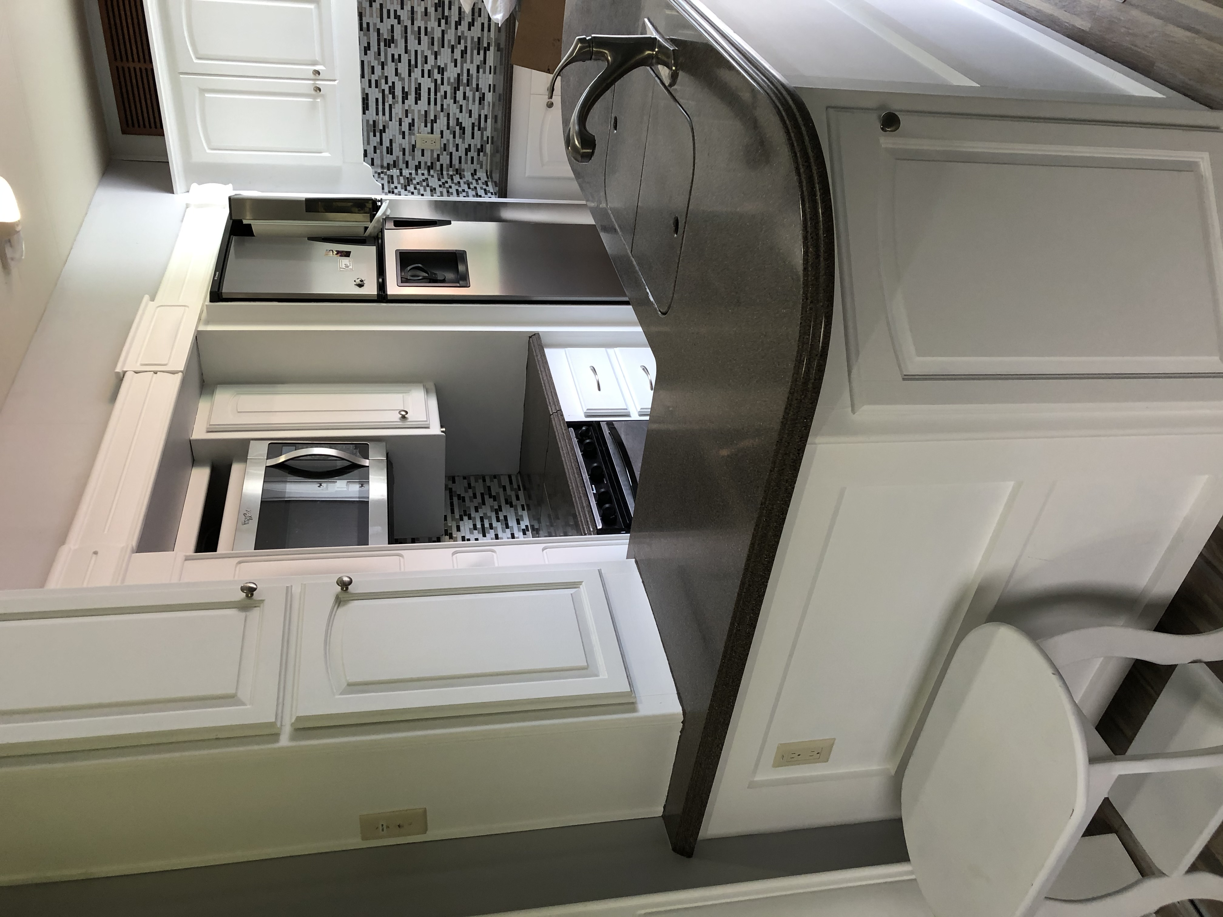 Gorgeous Kitchen with full refrigerator, perfect for camping with a family. . Augusta Rv landmark 2009