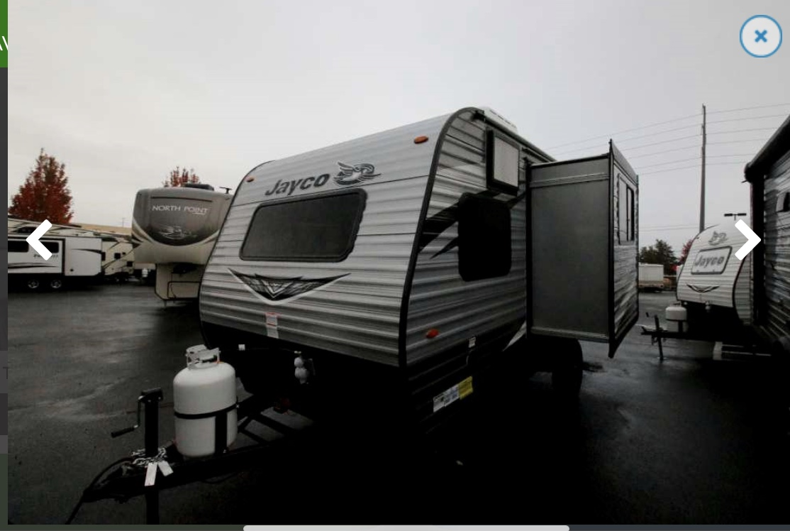 Outside view with slide out . Jayco Baja 2020