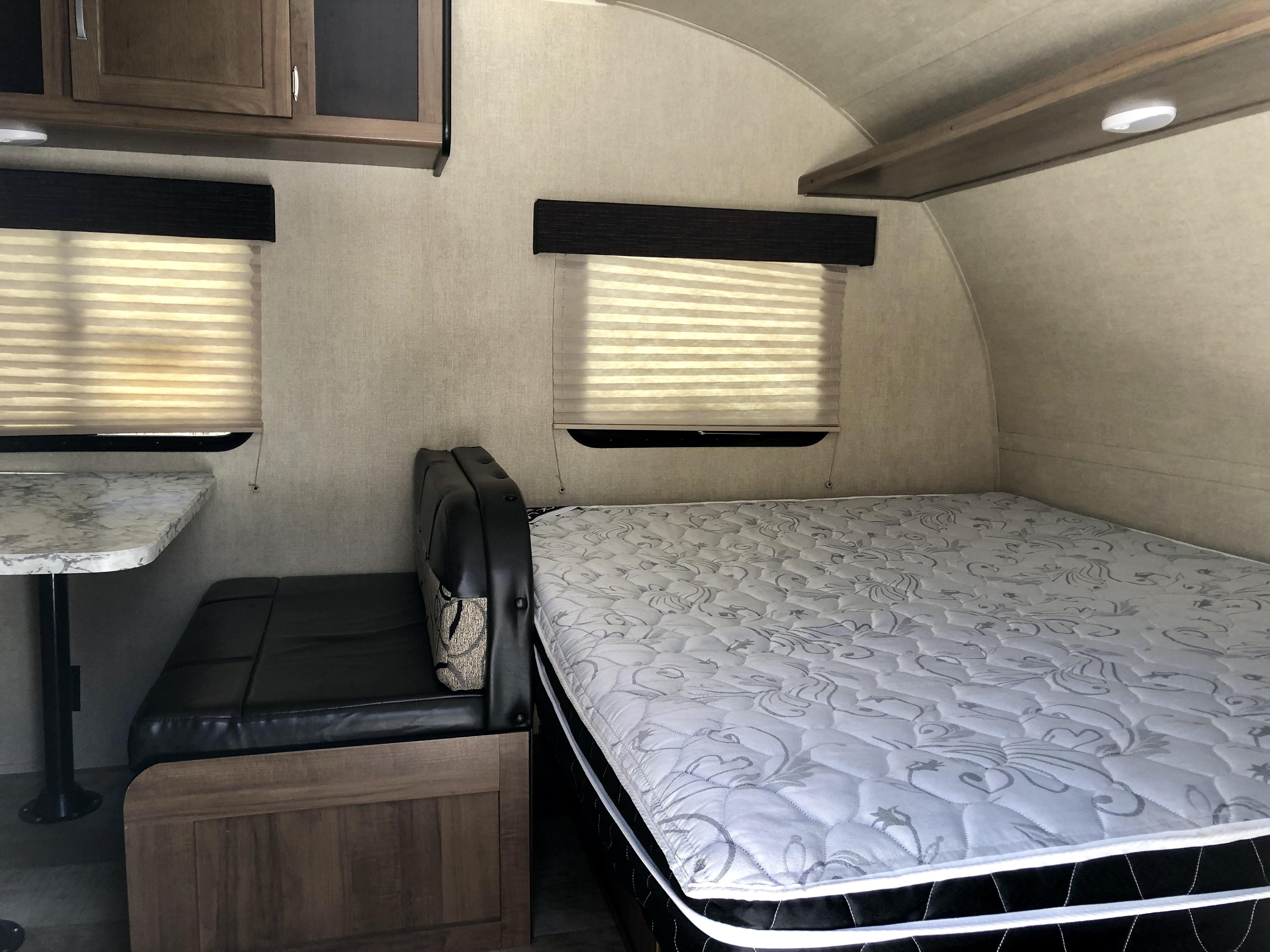 View of front of trailer when walking in. Gulf Stream Amerilite 2019
