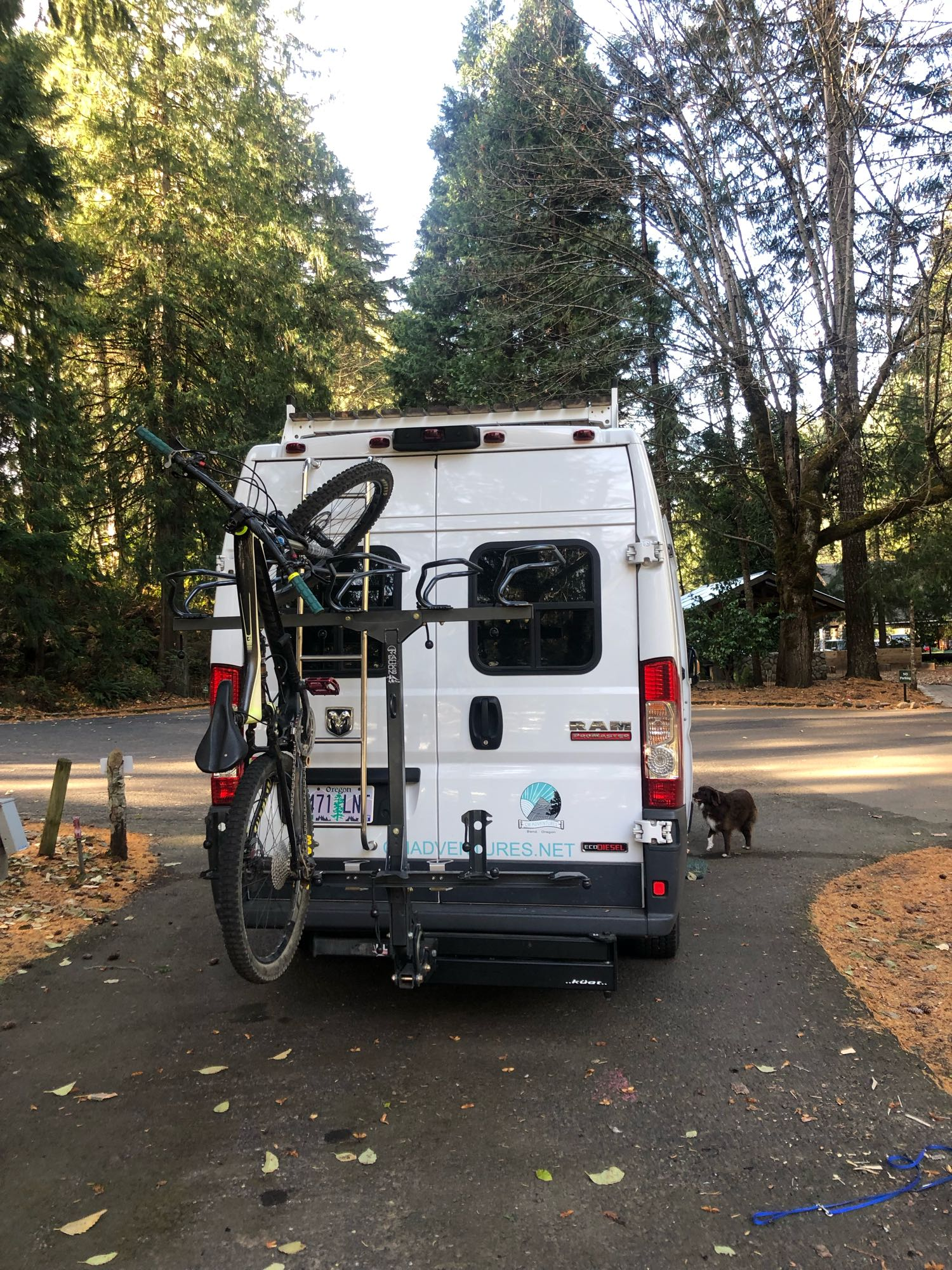 Our Bike Rack we rent holds six full size bikes and will hold a fat bike.. . Dodge promaster3500ecodiesel-highroof 2015