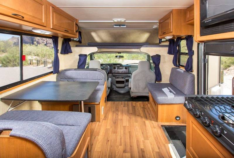 Very spacious and plenty of storage room. Thor Motor Coach Four Winds Majestic 2013