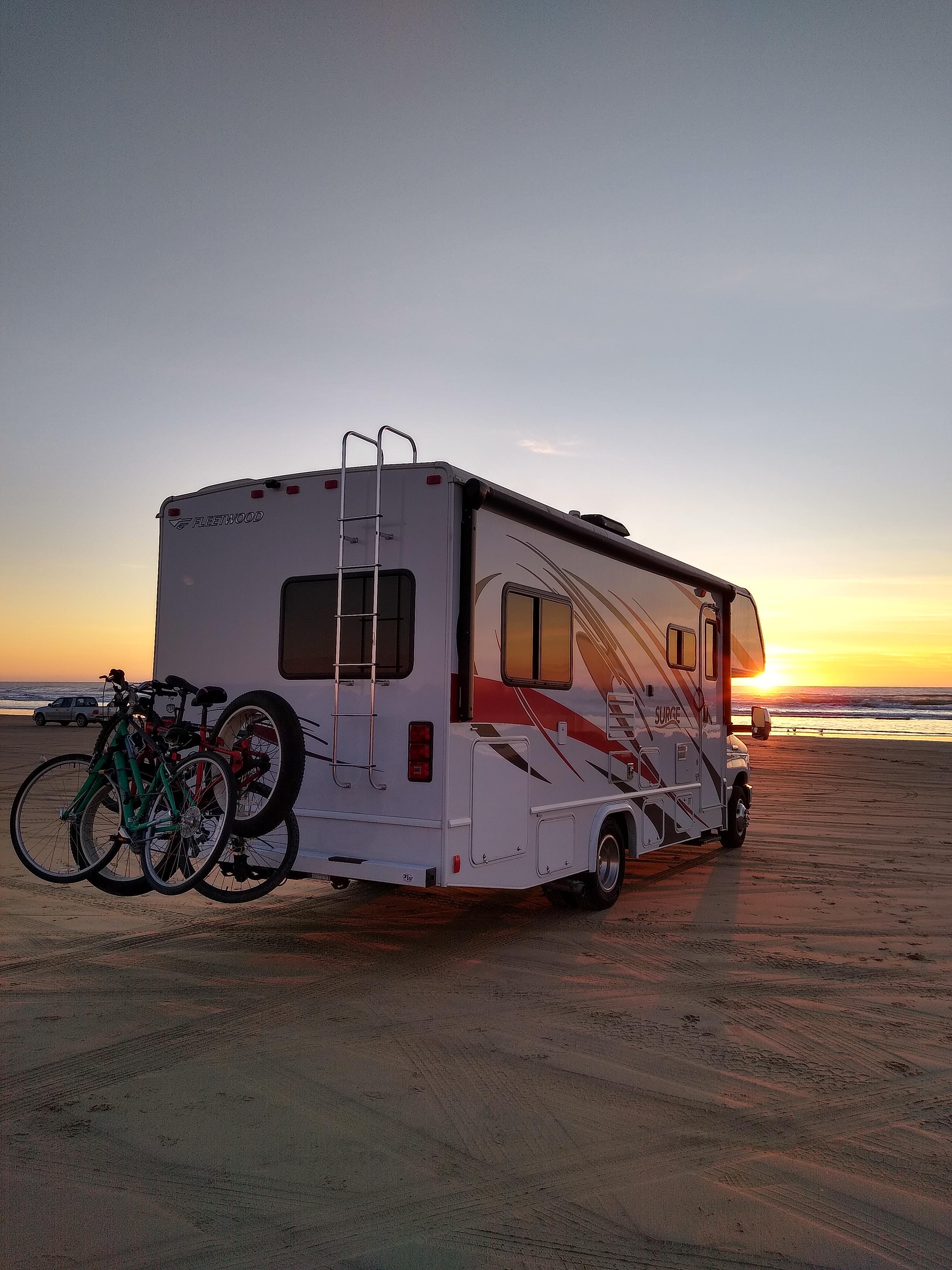 Enjoy a beautiful sunset at the beach . Fleetwood Surge 2018