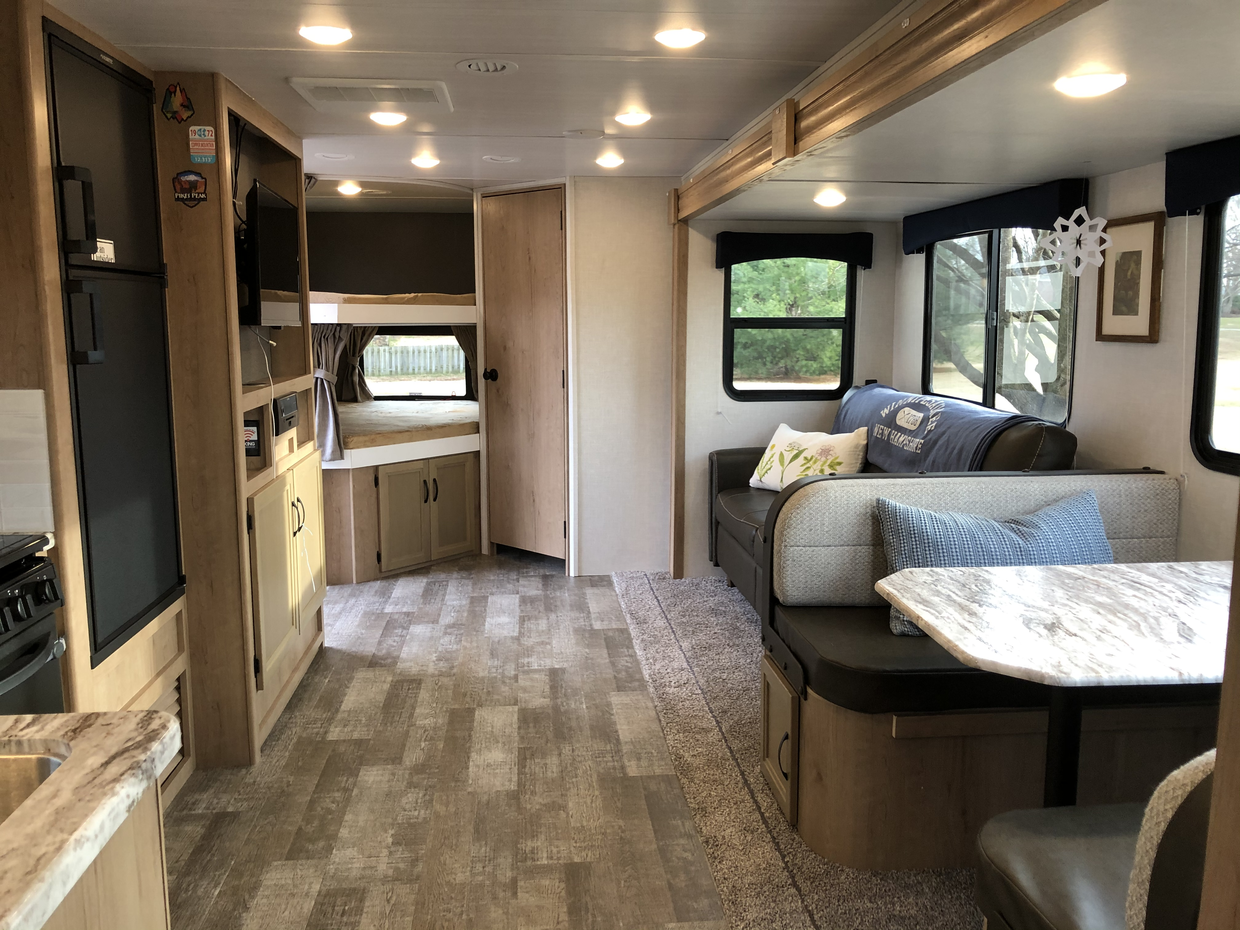 Double sized bunks fits two kids per bunk!. Winnebago Minnie 2020