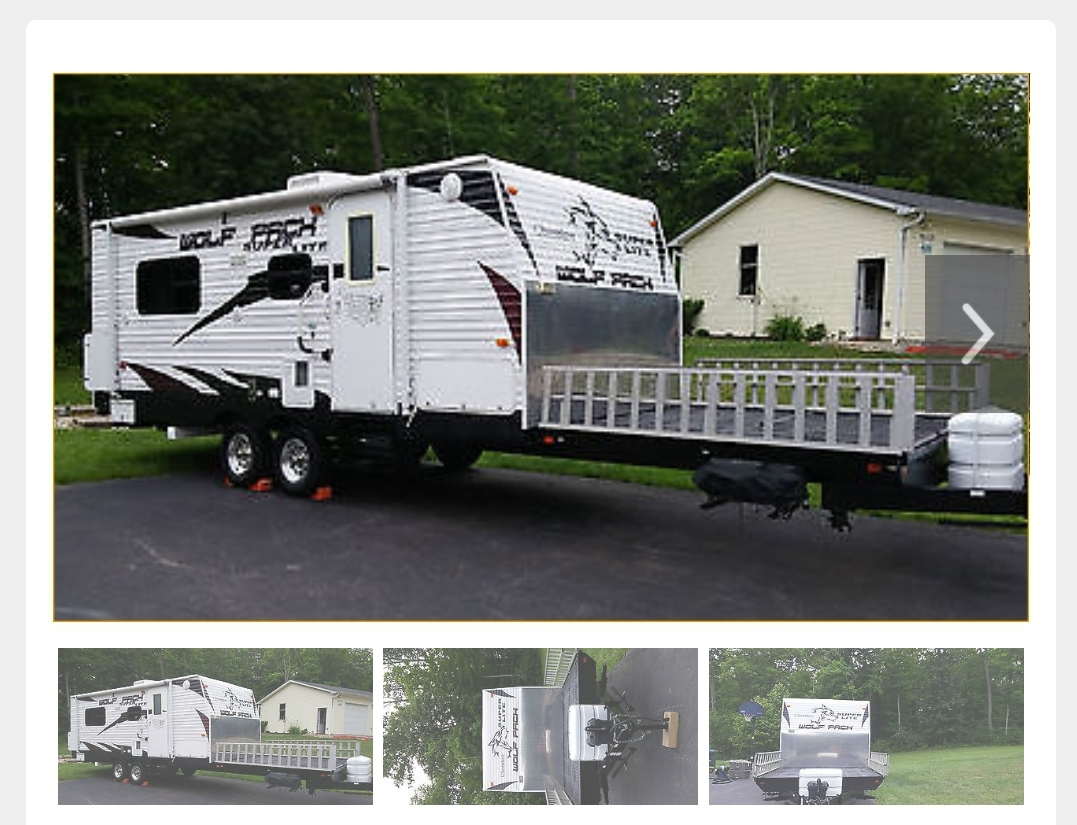 wolf pack front deck toy hauler