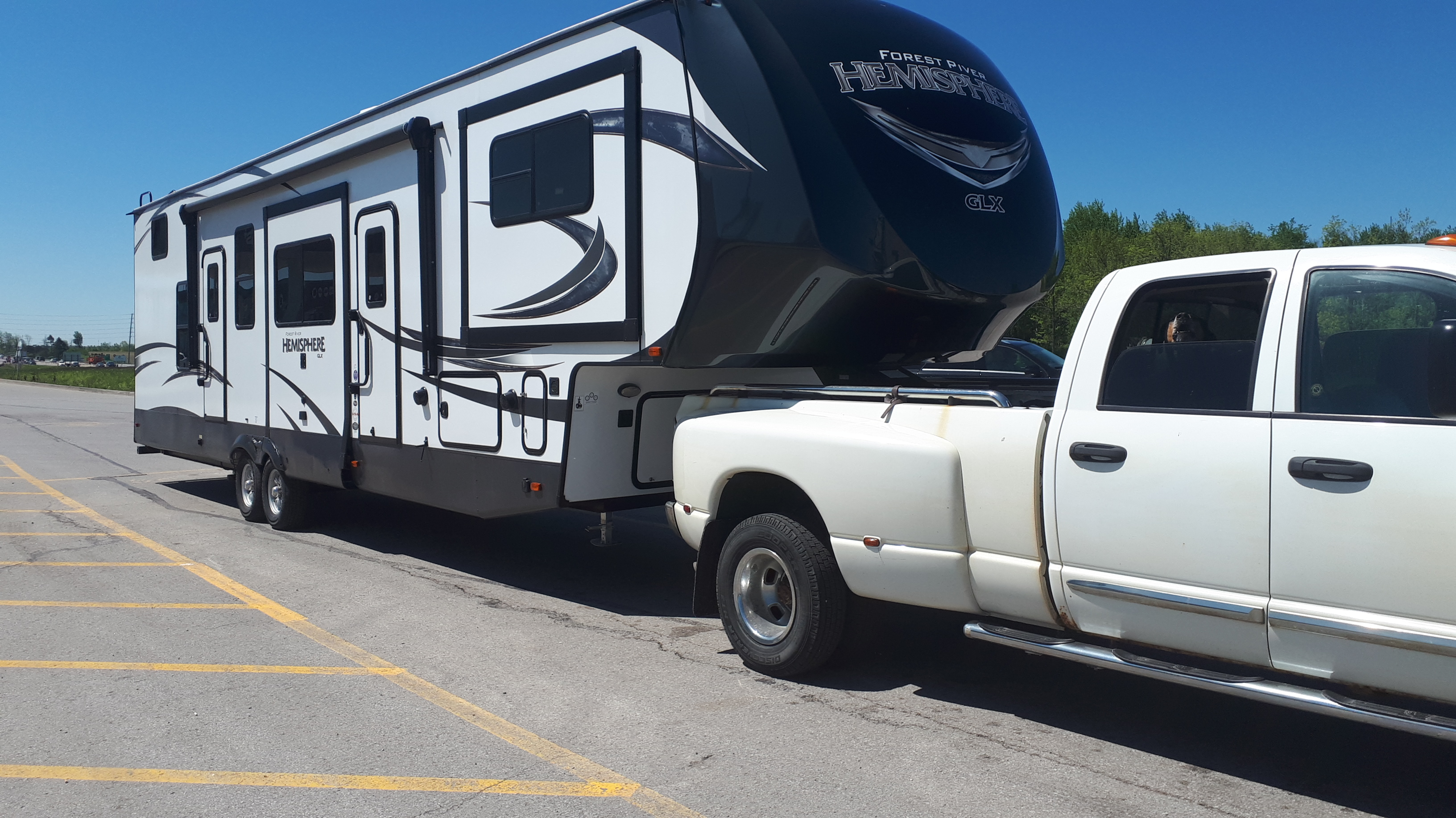 Trailer In Tow. Forest River Hemisphere 2018