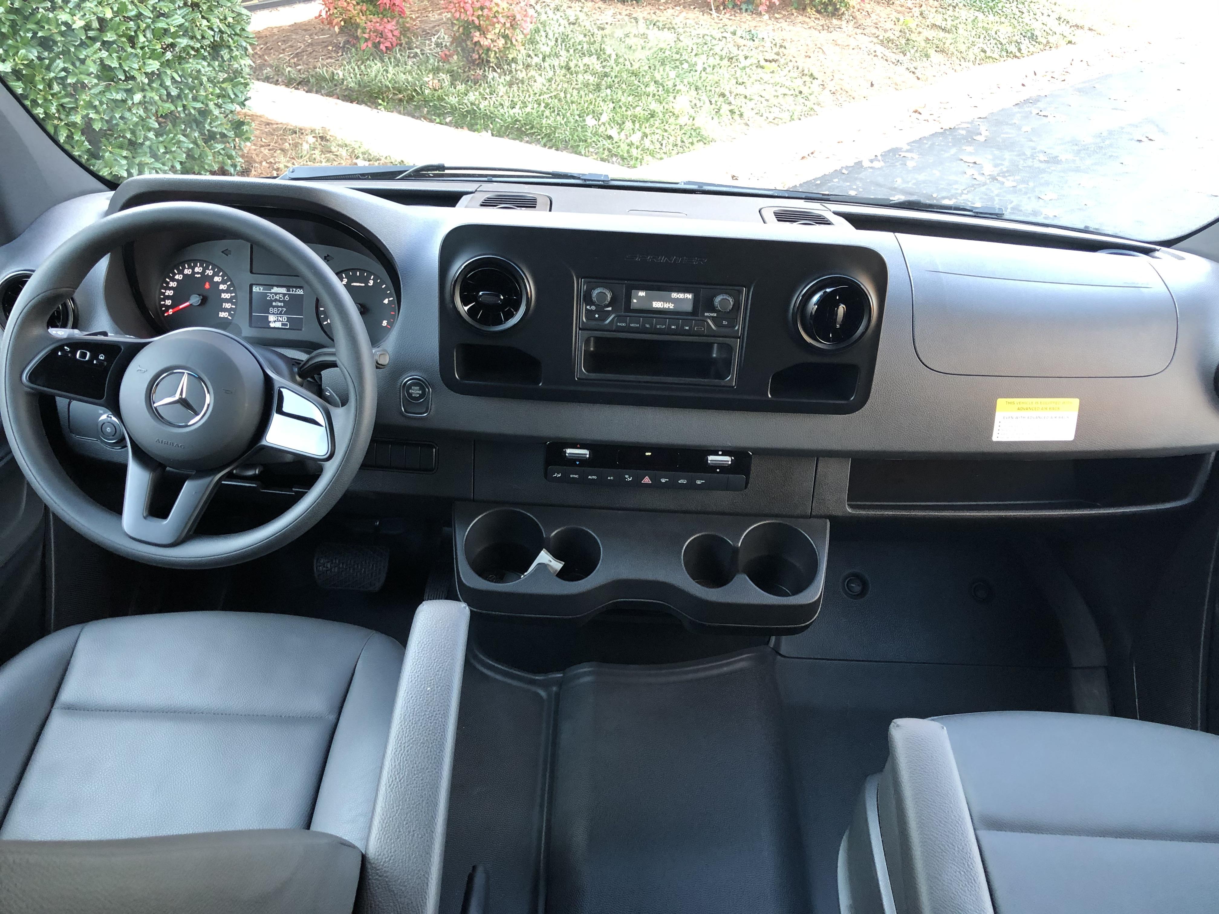 Dashboard view. Mercedes Sprinter Van 2500 2019