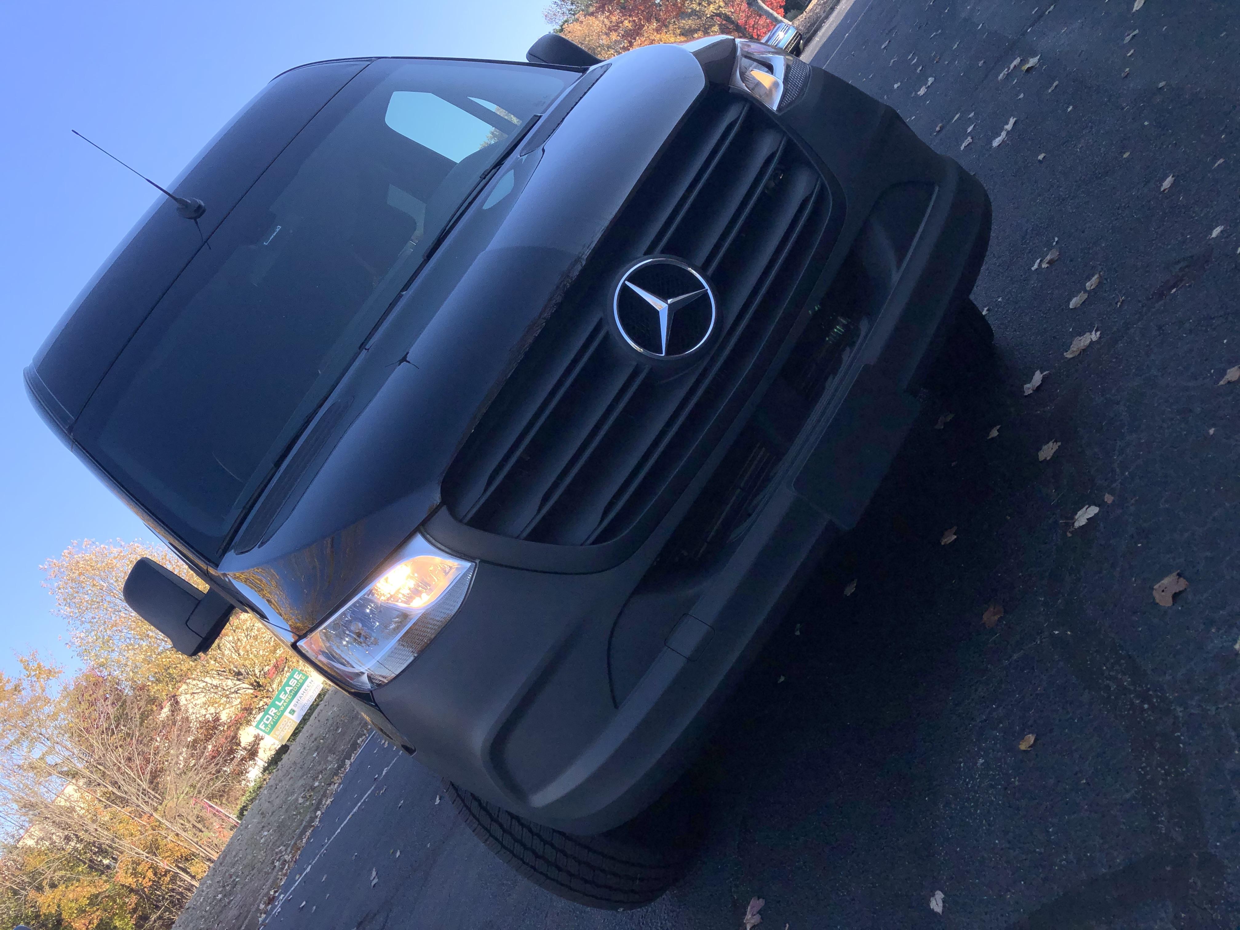 Front view. Mercedes Sprinter Van 2500 2019