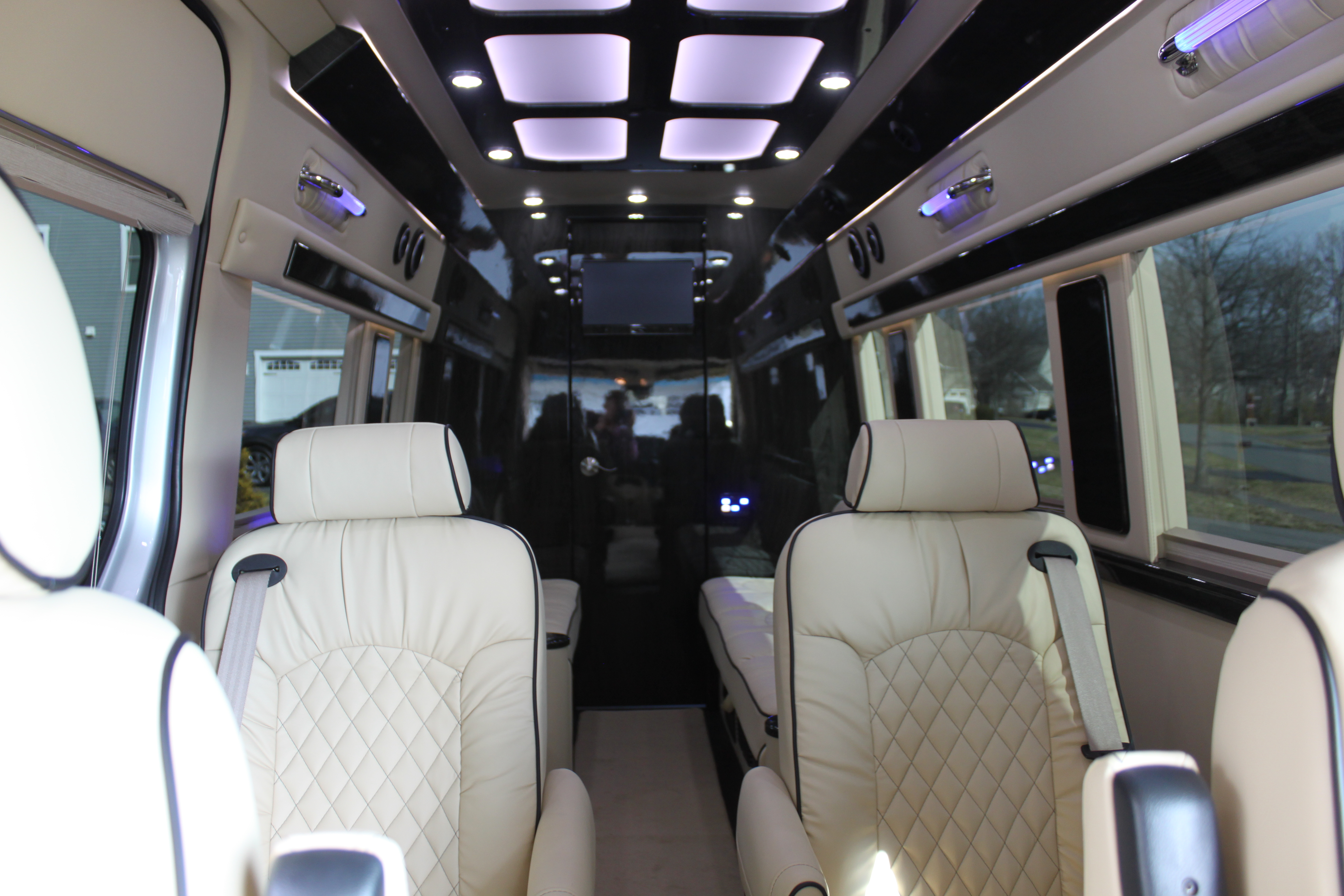 High ceiling provides plenty of headroom to easily walk through the cabin.. Mercedes Sprinter Entertainer 2020