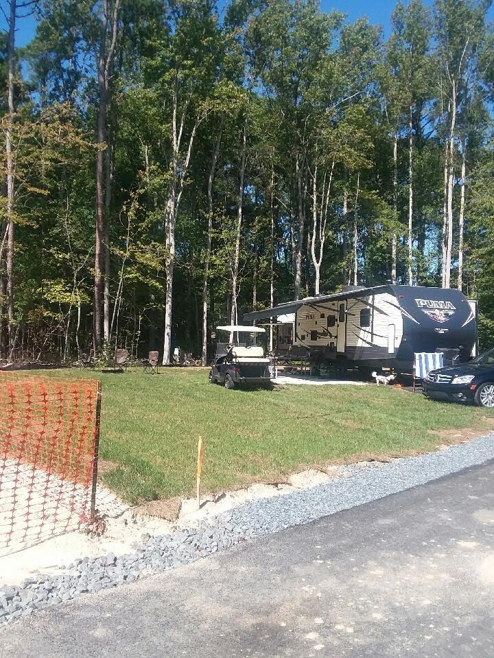 Campsite at Frontiertown, OceanCity MD. Palomino Puma 2018