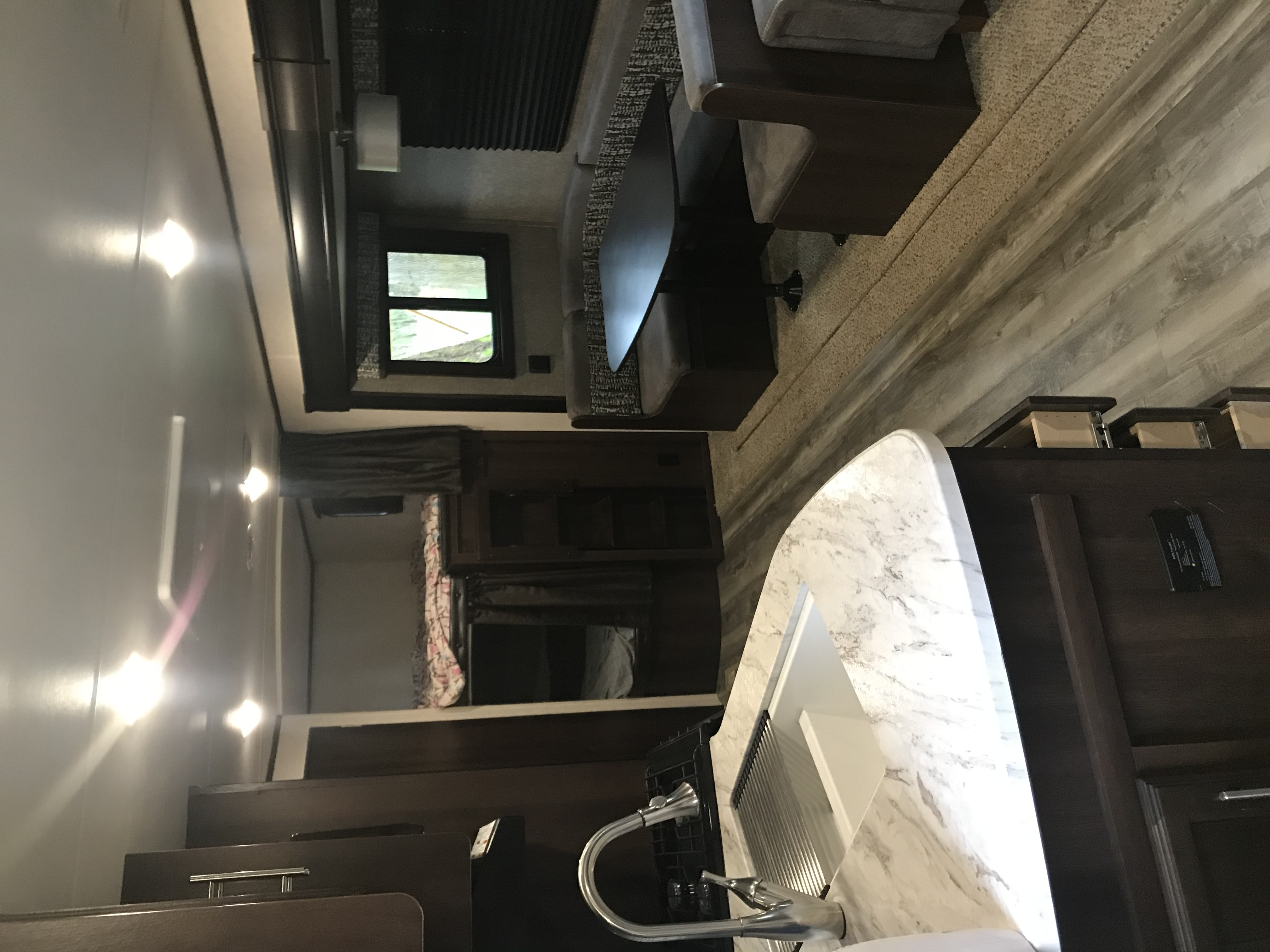 Dbl bunk beds, table sleeps two, and 1 can sleep on couch. . Jayco Flight 2019