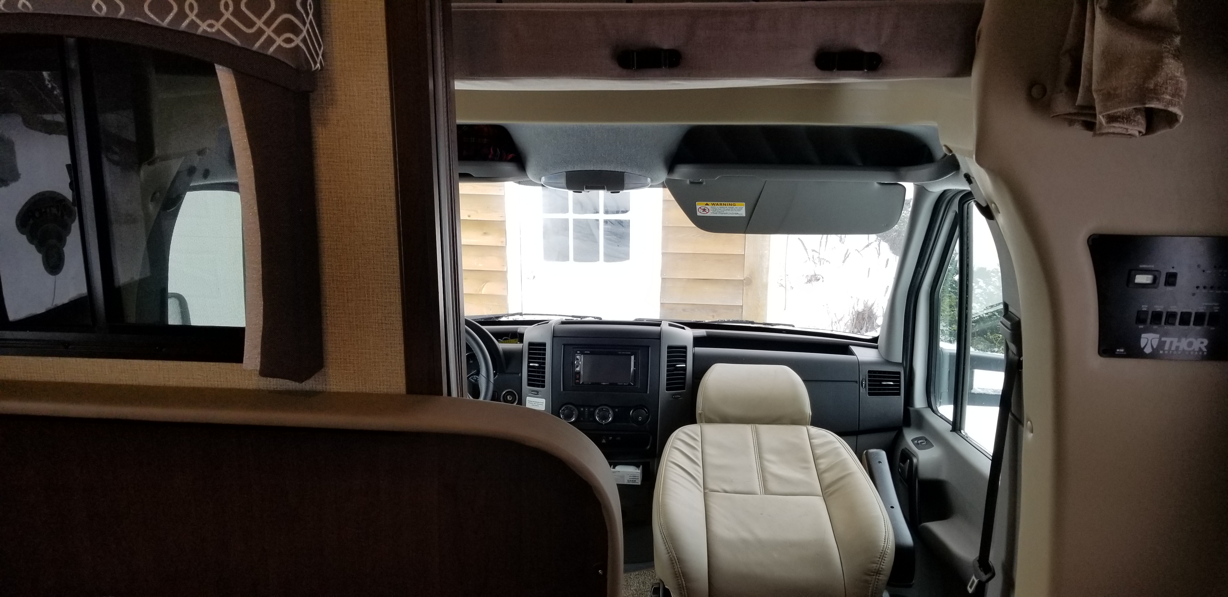 Interior Front Seats (w/swivel capability). Mercedes Diesel Turbo Sprinter Chassis Thor Chateau Motor Coach 2019