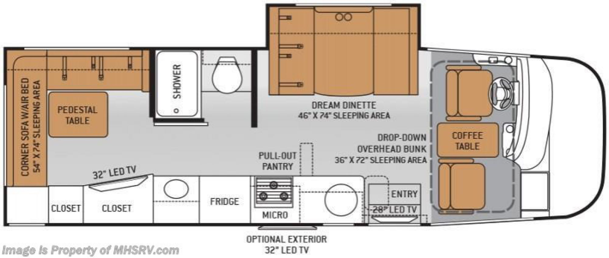 Floorplan. Thor Motor Coach Axis 2015
