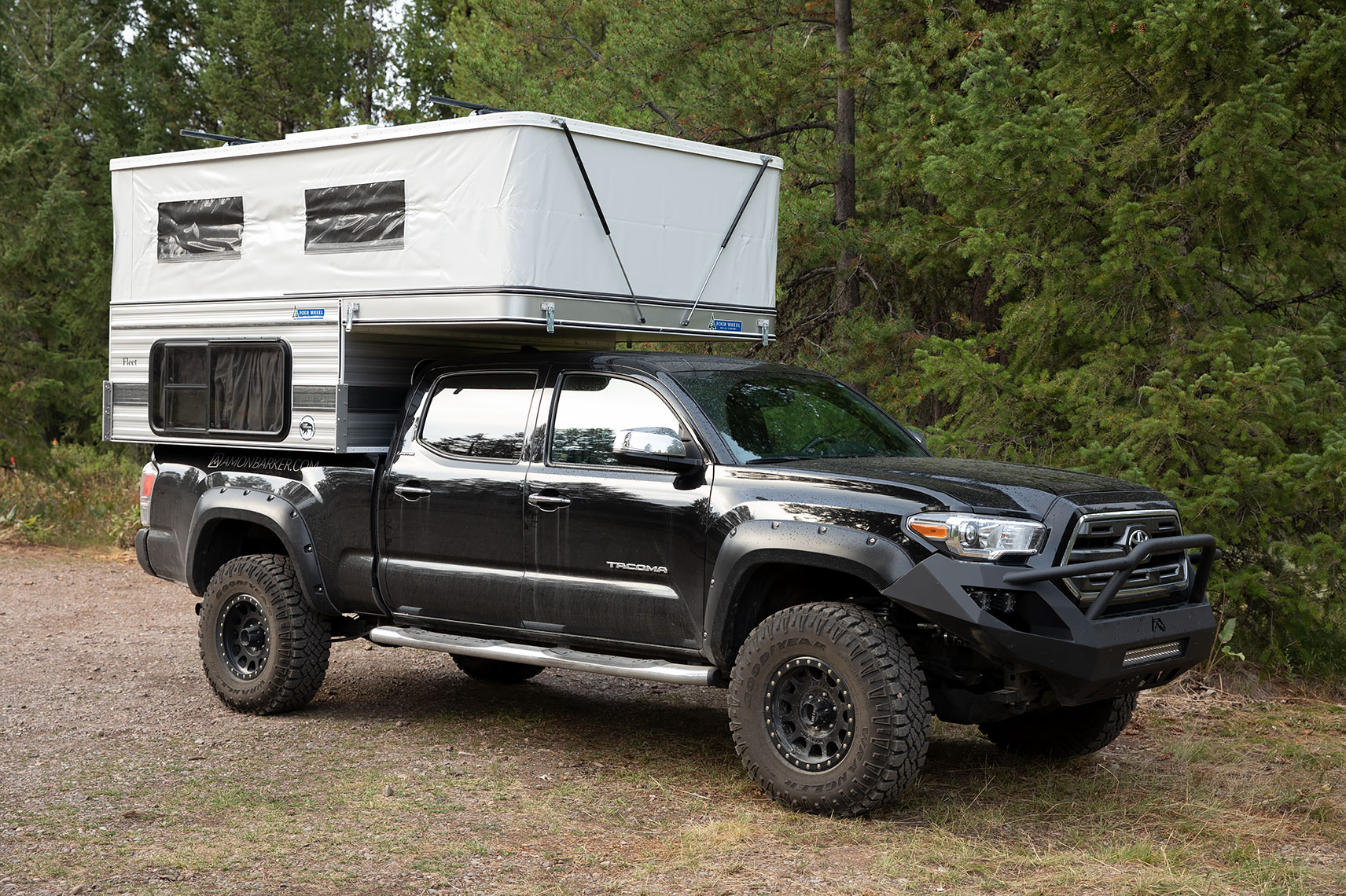 Once popped up there is plenty or room to stand in the camper. Four Wheel Campers Fleet 2016