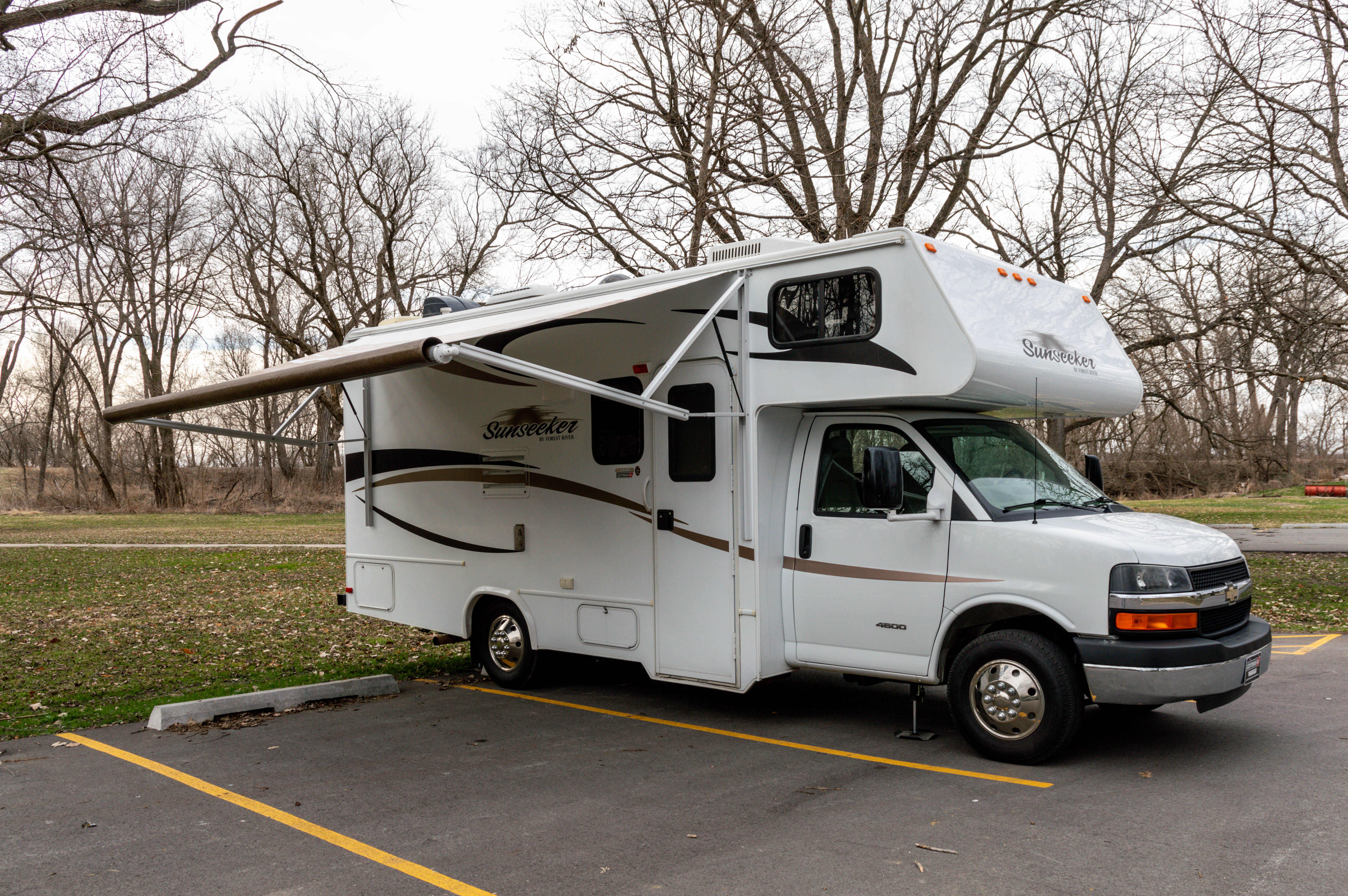 Powered Awning. Forest River Sunseeker 2012