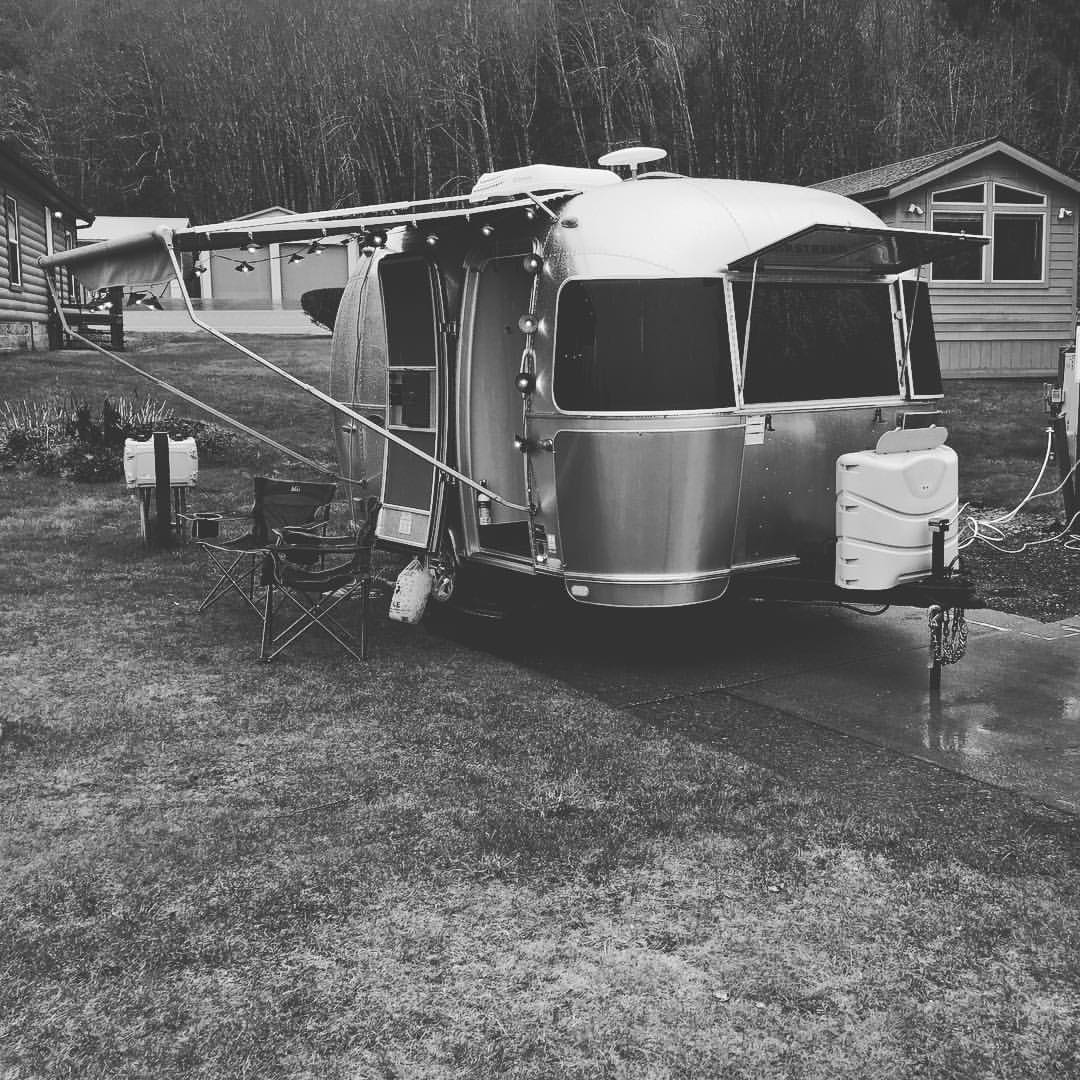 A Rainy Day of Camping. Airstream Sport 2016