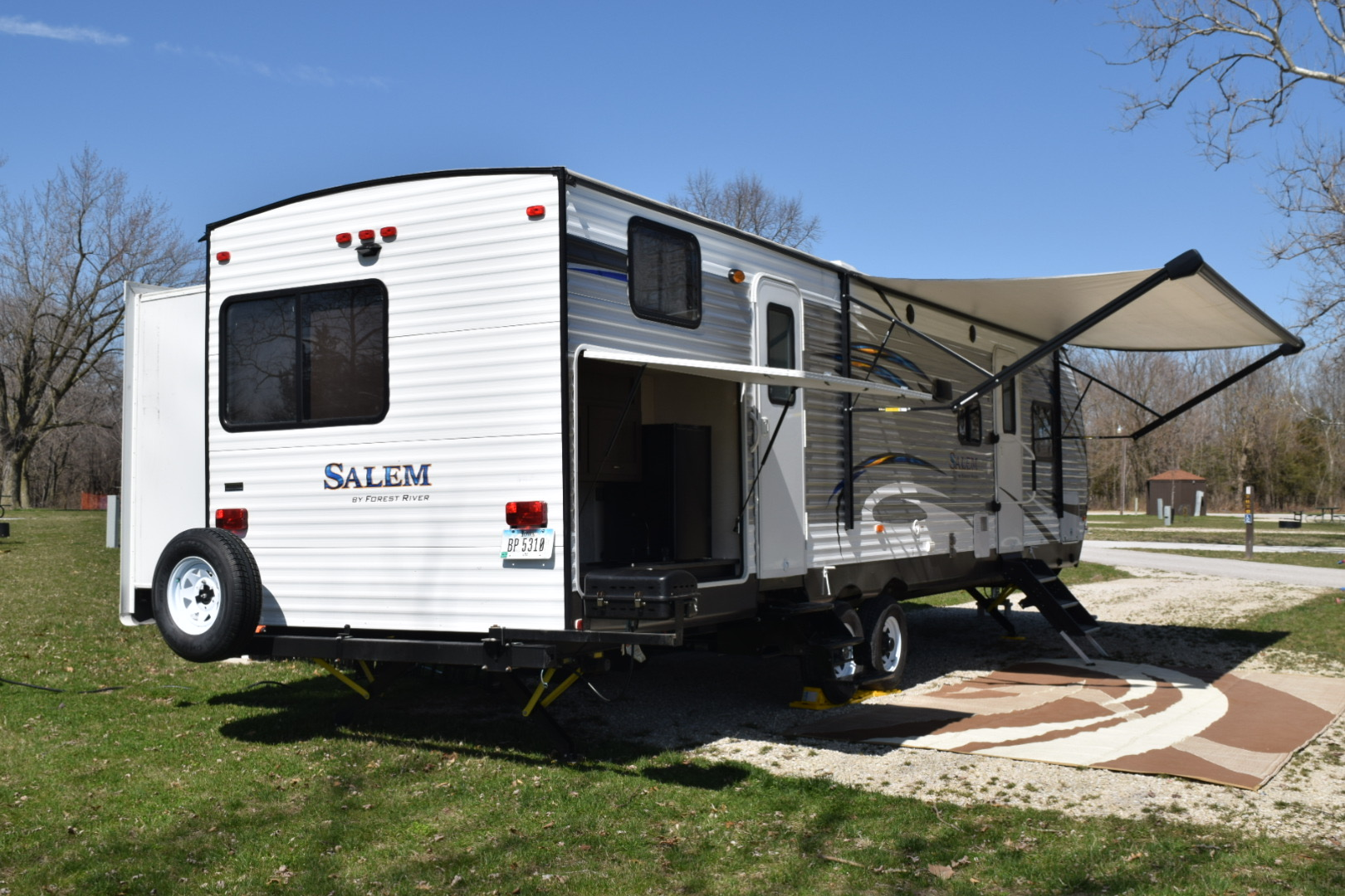 Rear of the camper.. Forest River Salem 2018