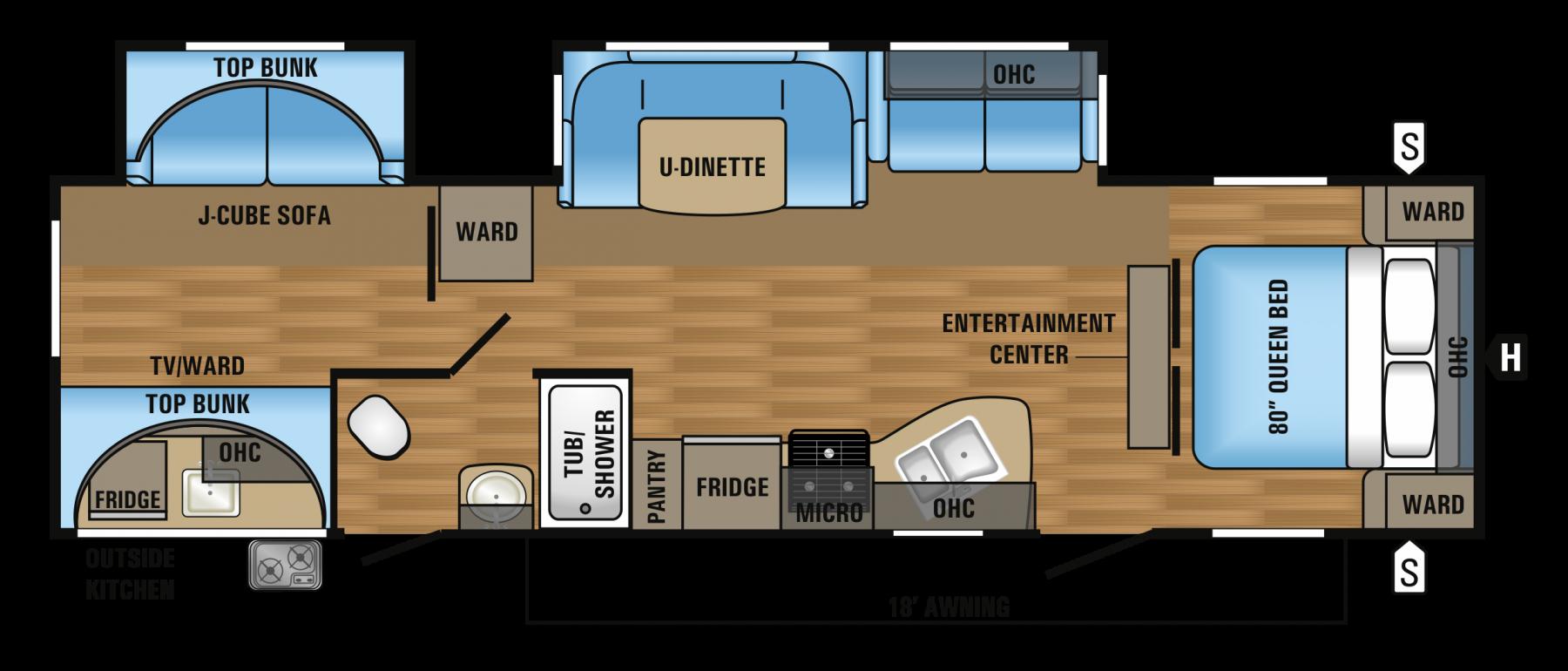 Floor plan. Jayco Flight 2017