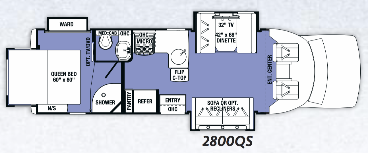 Here is the great, roomy floorplan!. Forest River Sunseeker 2017