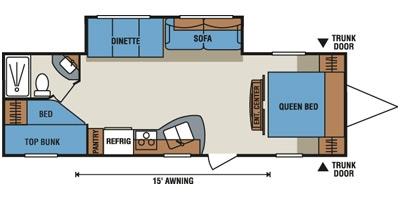 Floor Plan. K-Z Manufacturing Sportsmen 2013