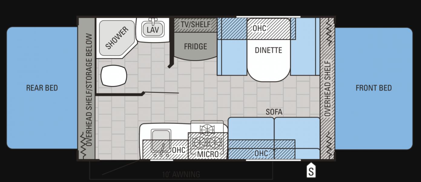 Floorplan. Jayco Jay Feather 2016