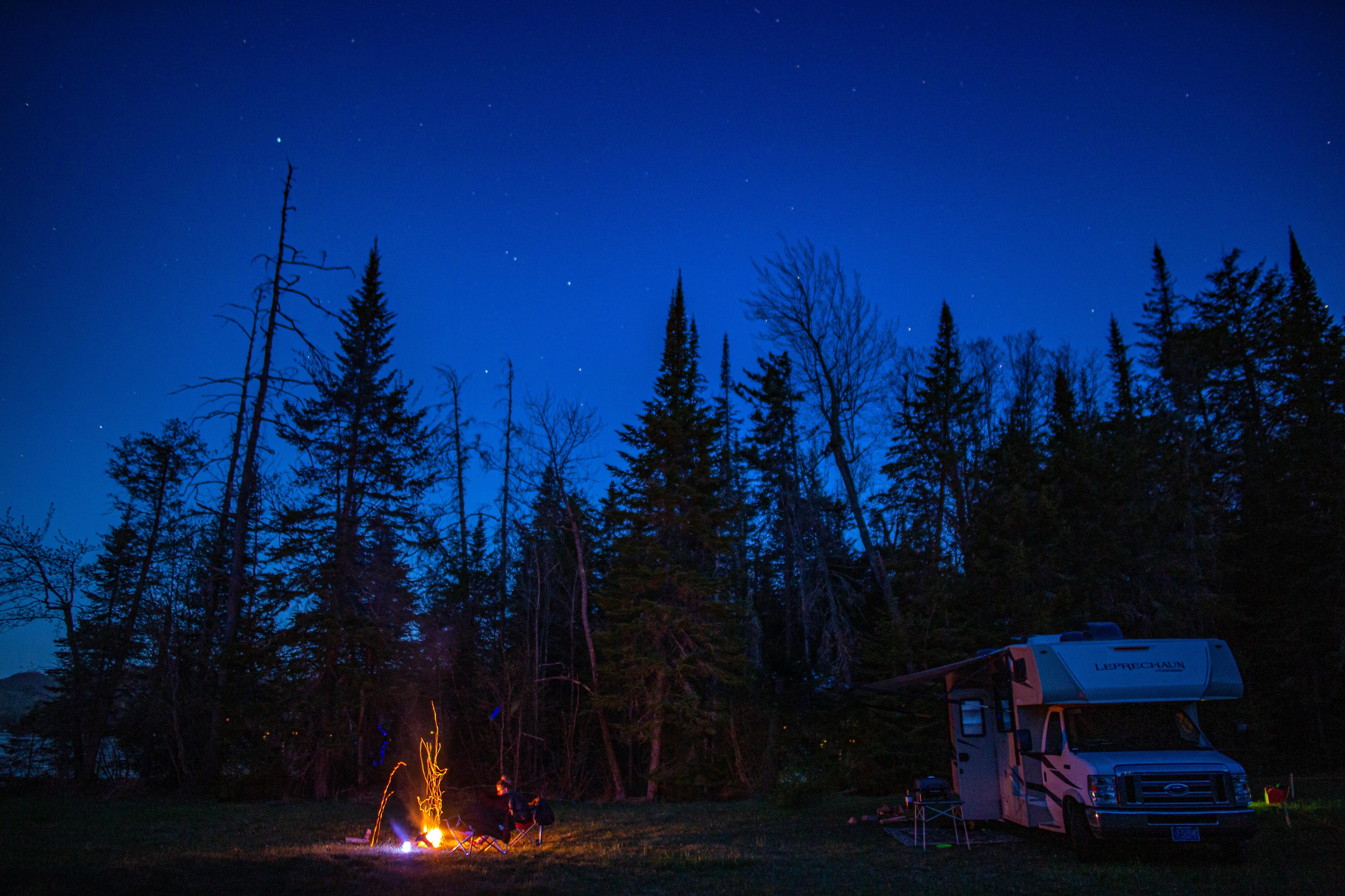 Camping under the stars. Coachmen Leprechaun 2018