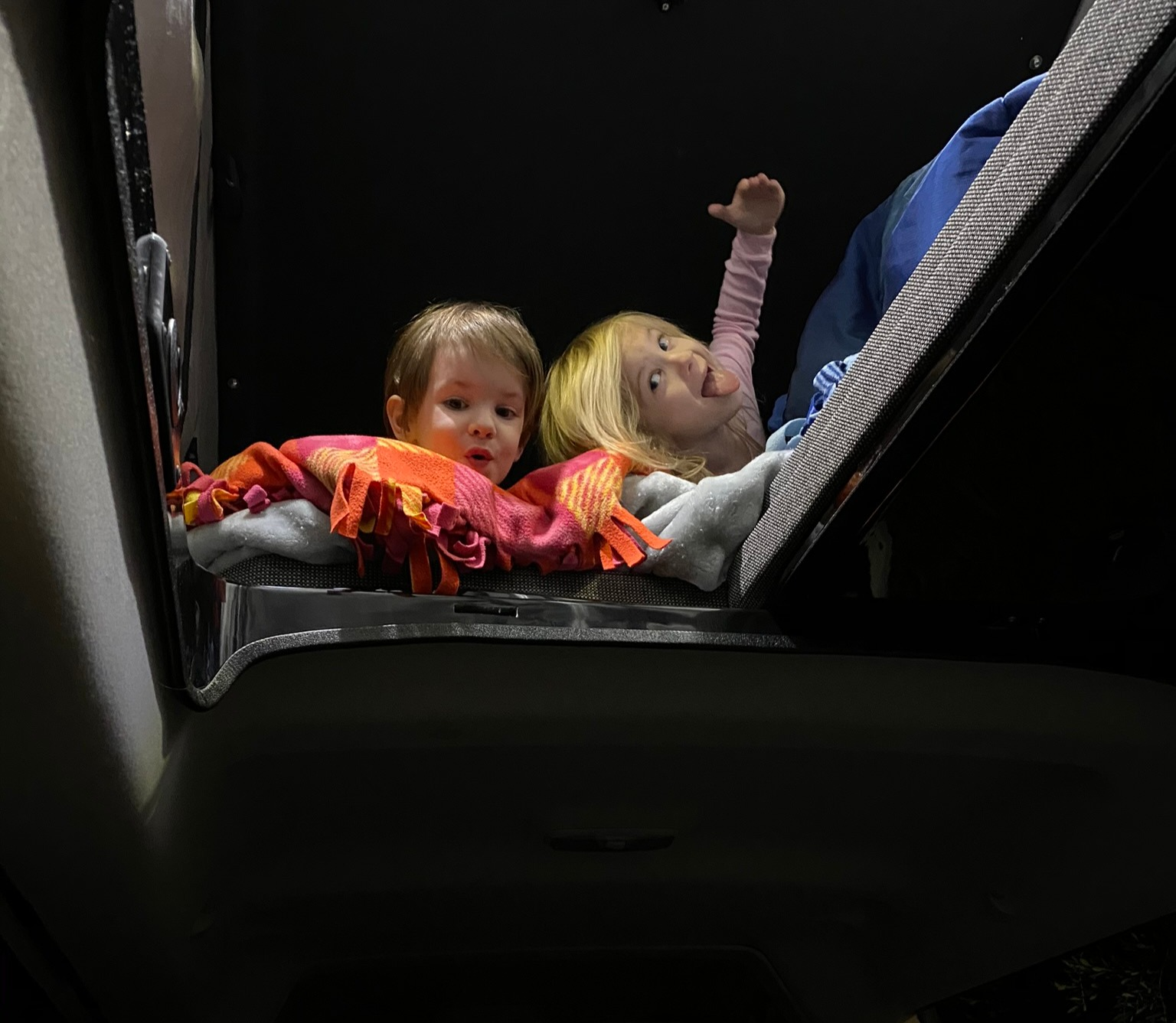 Kid approved :P. Van is great for families up to 5.. Ford TransitConnect 2016