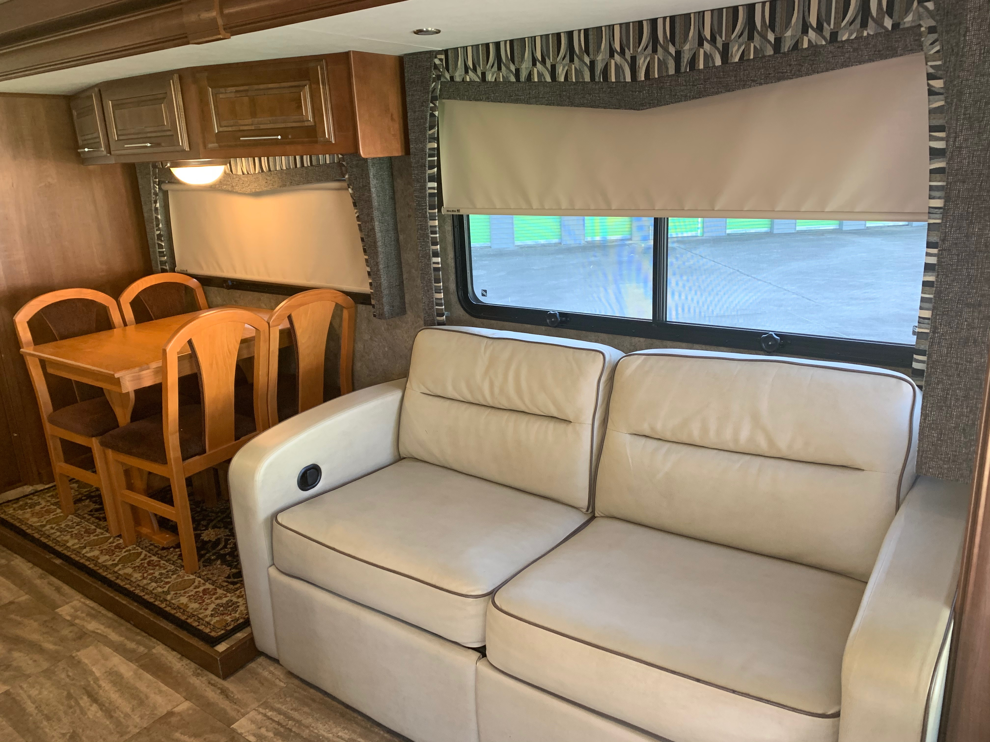 Huge Slide-out with Sleeper Sofa and Table. ForestRiver Georgetown 2016