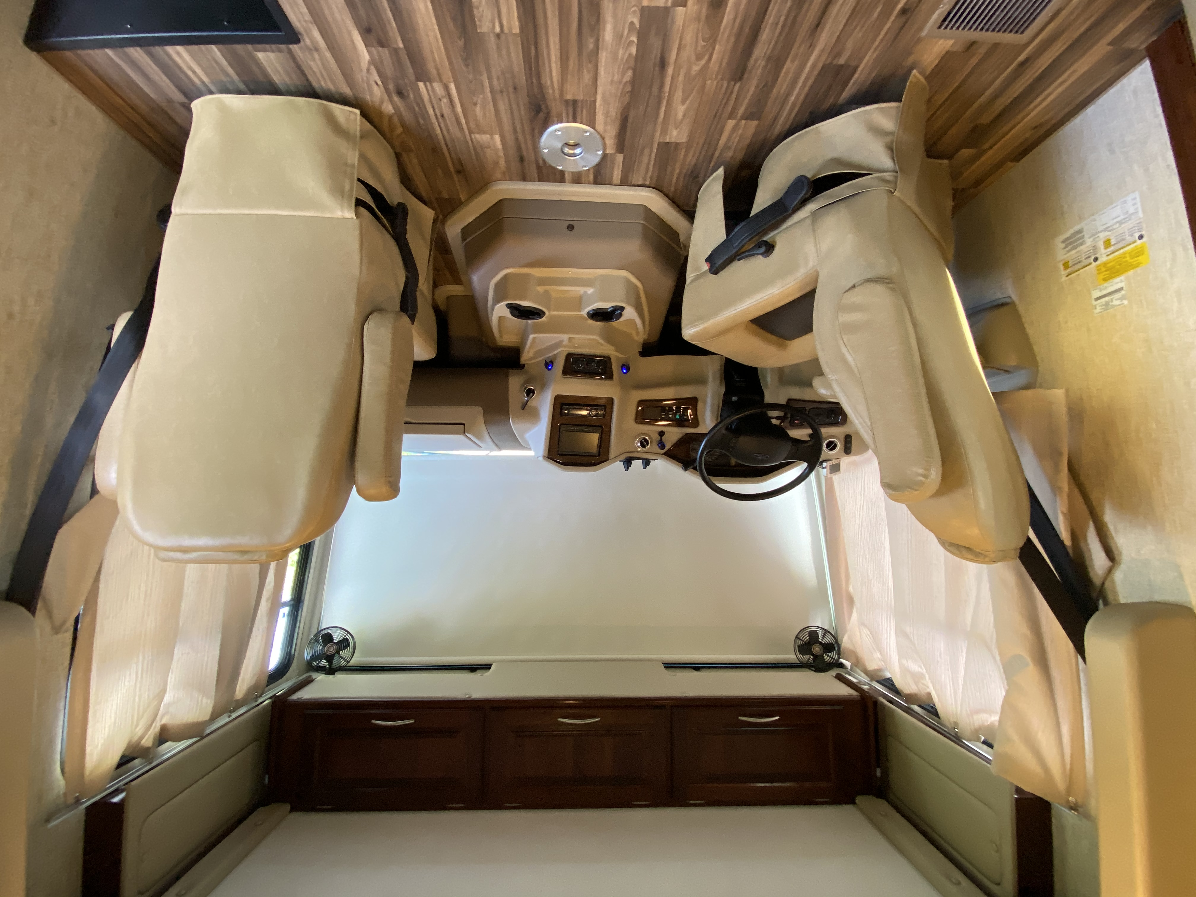 Roomy and comfortable with round table to insert if desired while driving.. Coachmen MiradaA-Class 2018