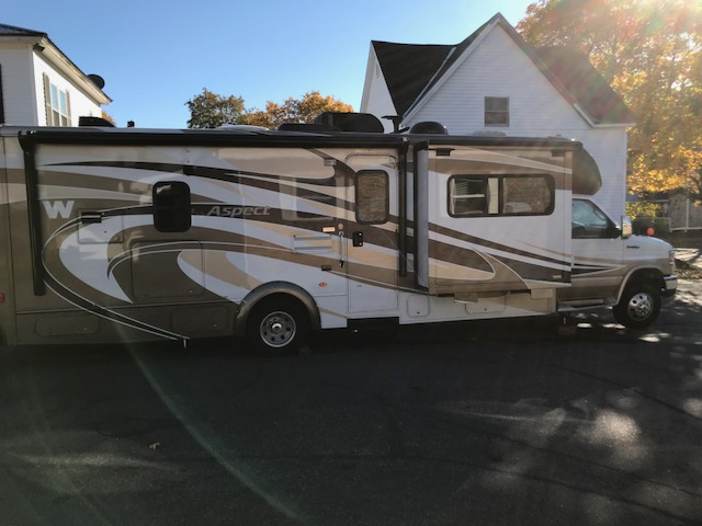 Right side in driveway. Winnebago Aspect 2012