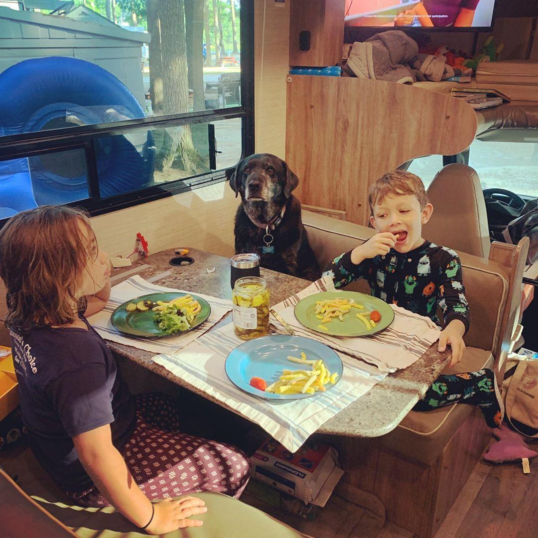 Having fun at dinnertime!. Jayco Redhawk 2019