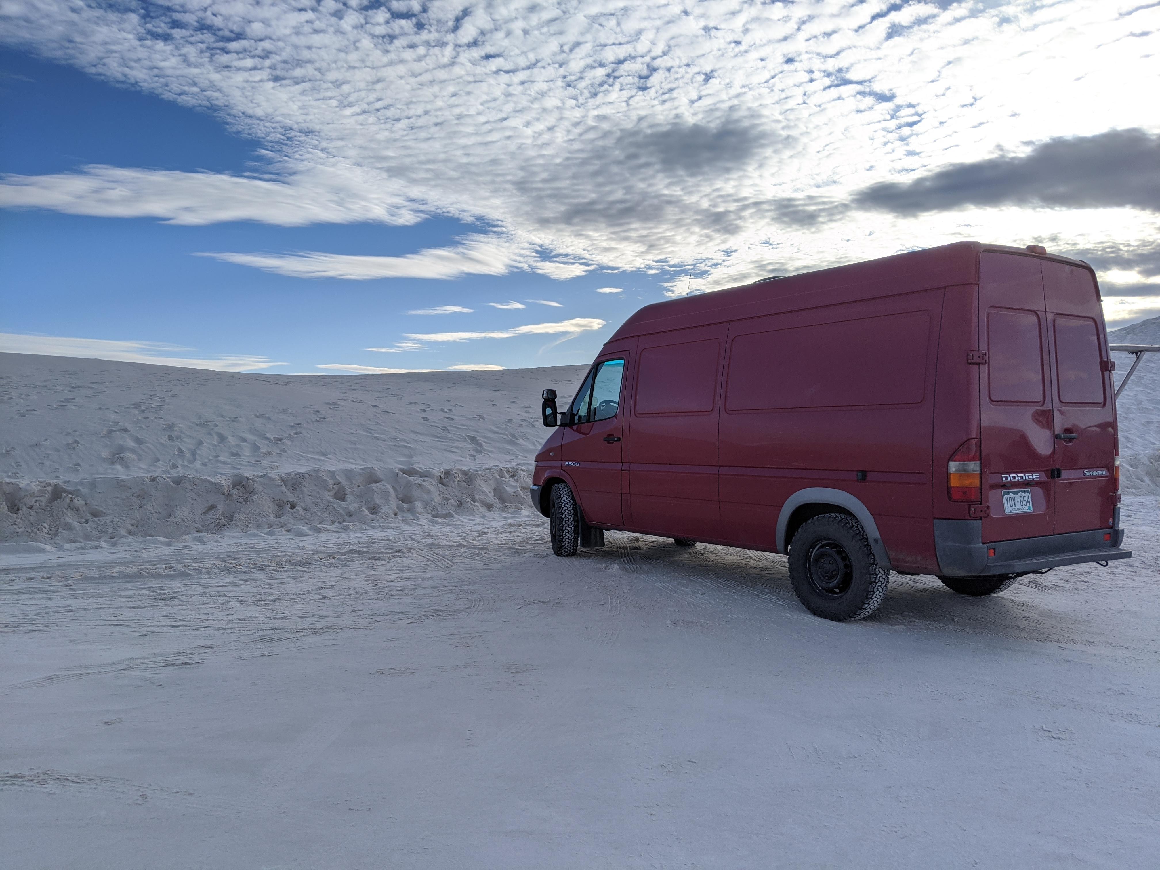 White Sands National Park. Dodge Sprinter Van 2004