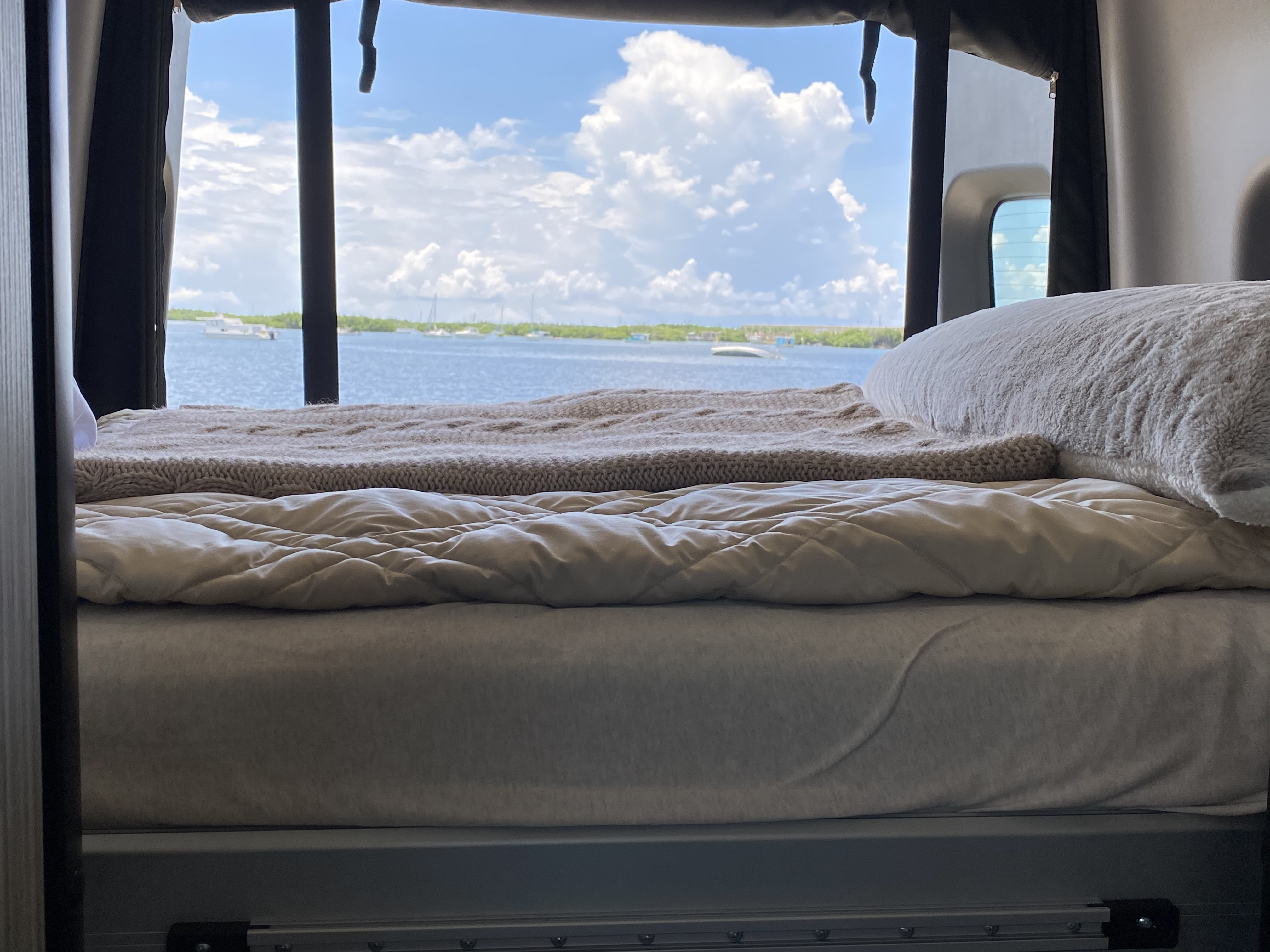 Bed Lowered to 3/4 position. Winnebago Revel 4x4 2020