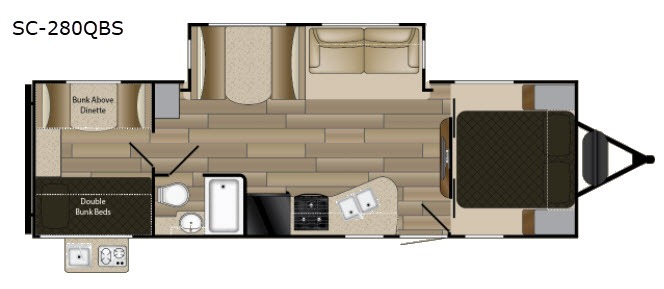 Spacious bunk house floorplan with tons of comfortable seating and sleeping spaces!. CruiserRvCorp ShadowCruiser 2020
