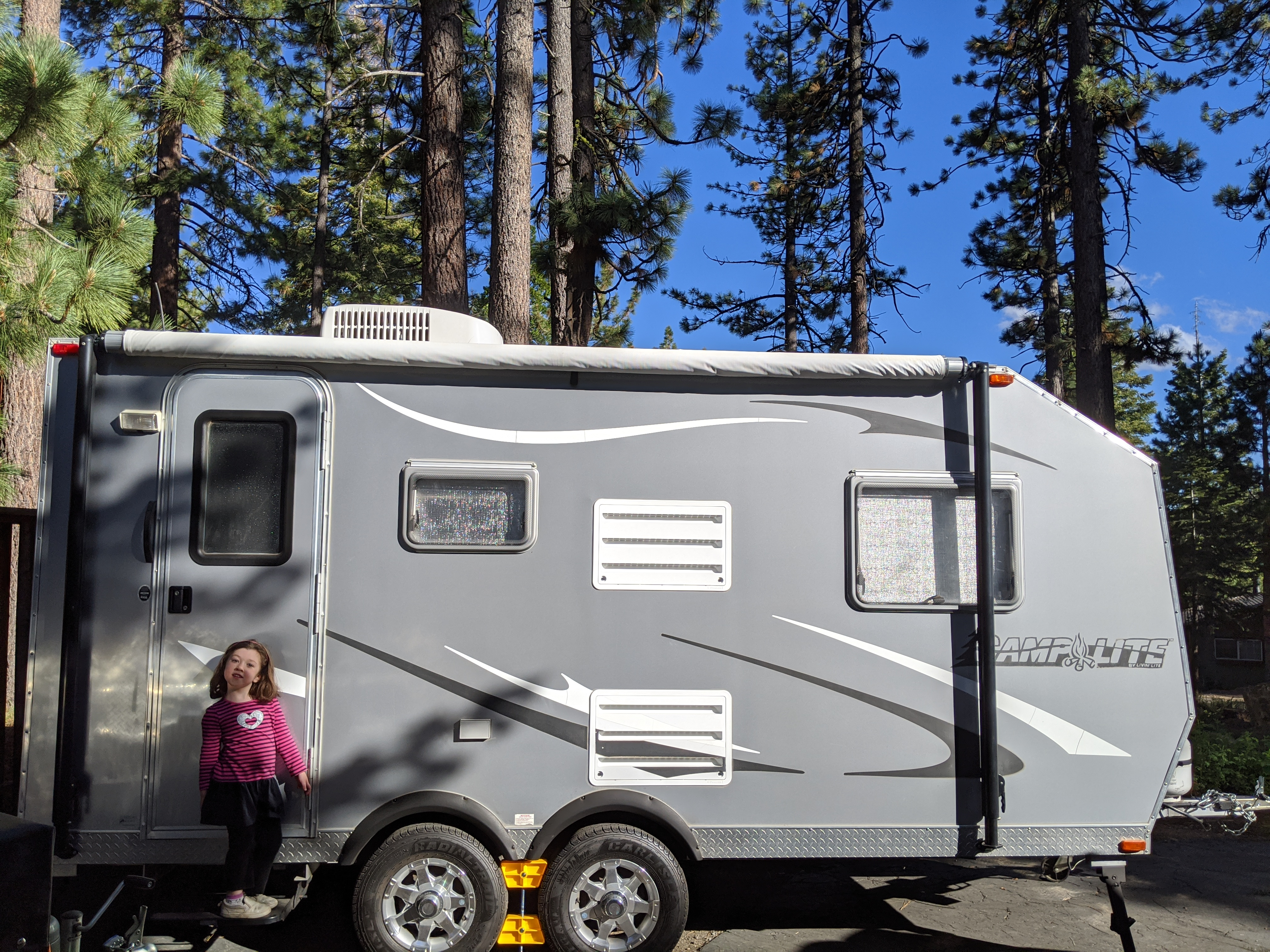 Side View with awning. Livin' Lite Camplite 2012