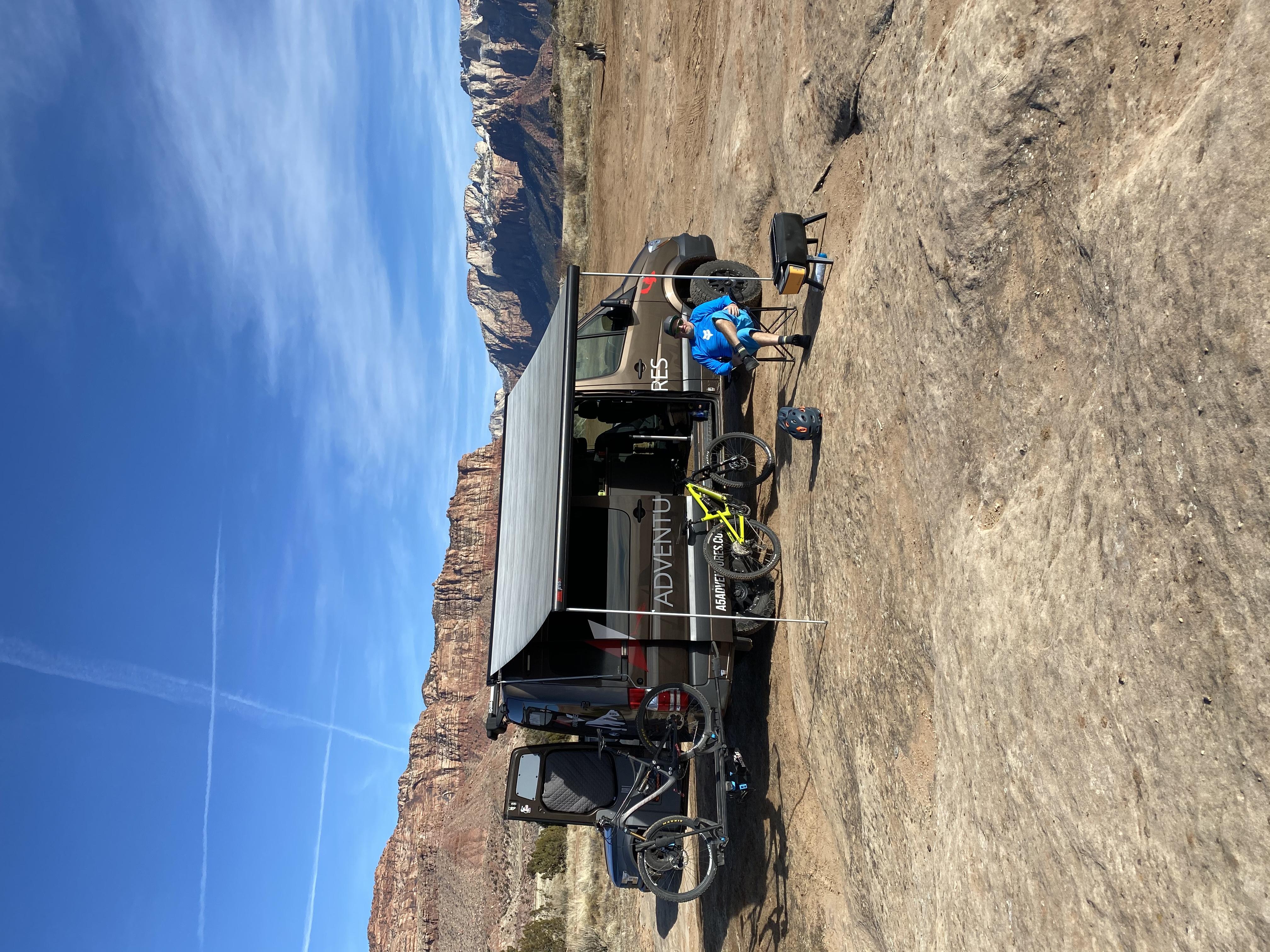 Mountain bike overnighter trip. Mercedes-Benz Sprinter 2017