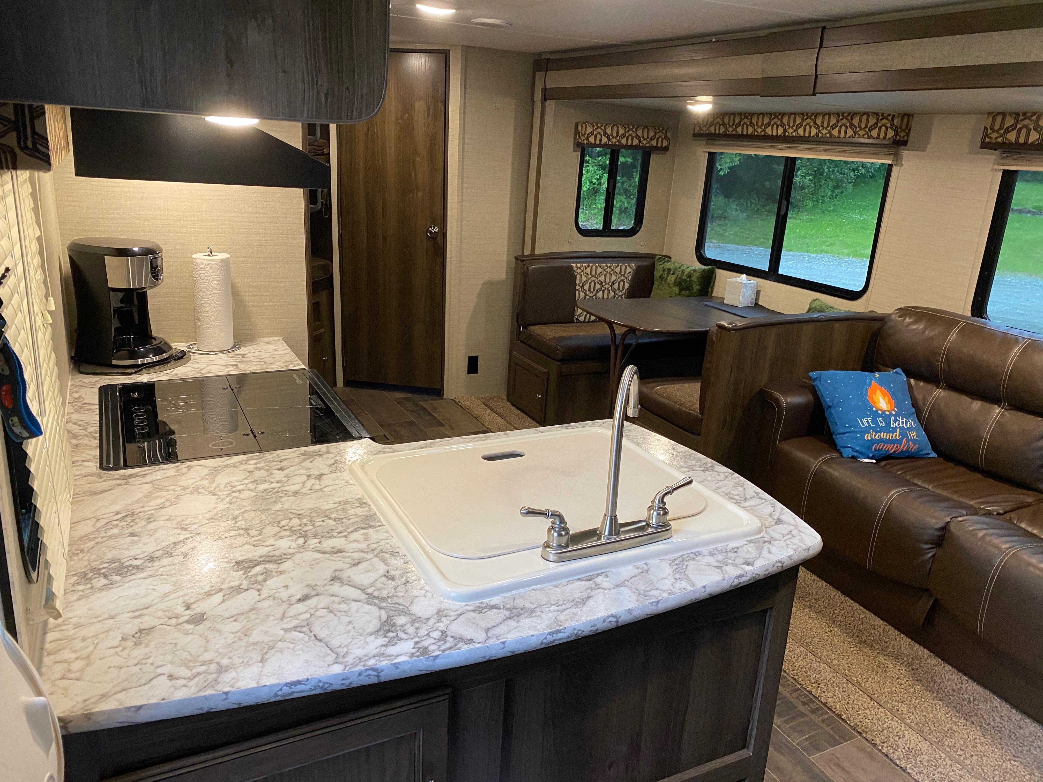 Living space from entry door.. Keystone Ultra lite Bullet 2017