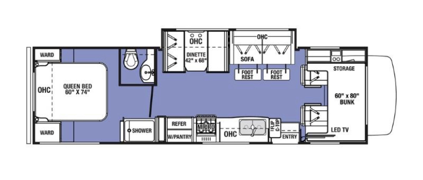 Floor plan. Forest River Sunseeker 2020