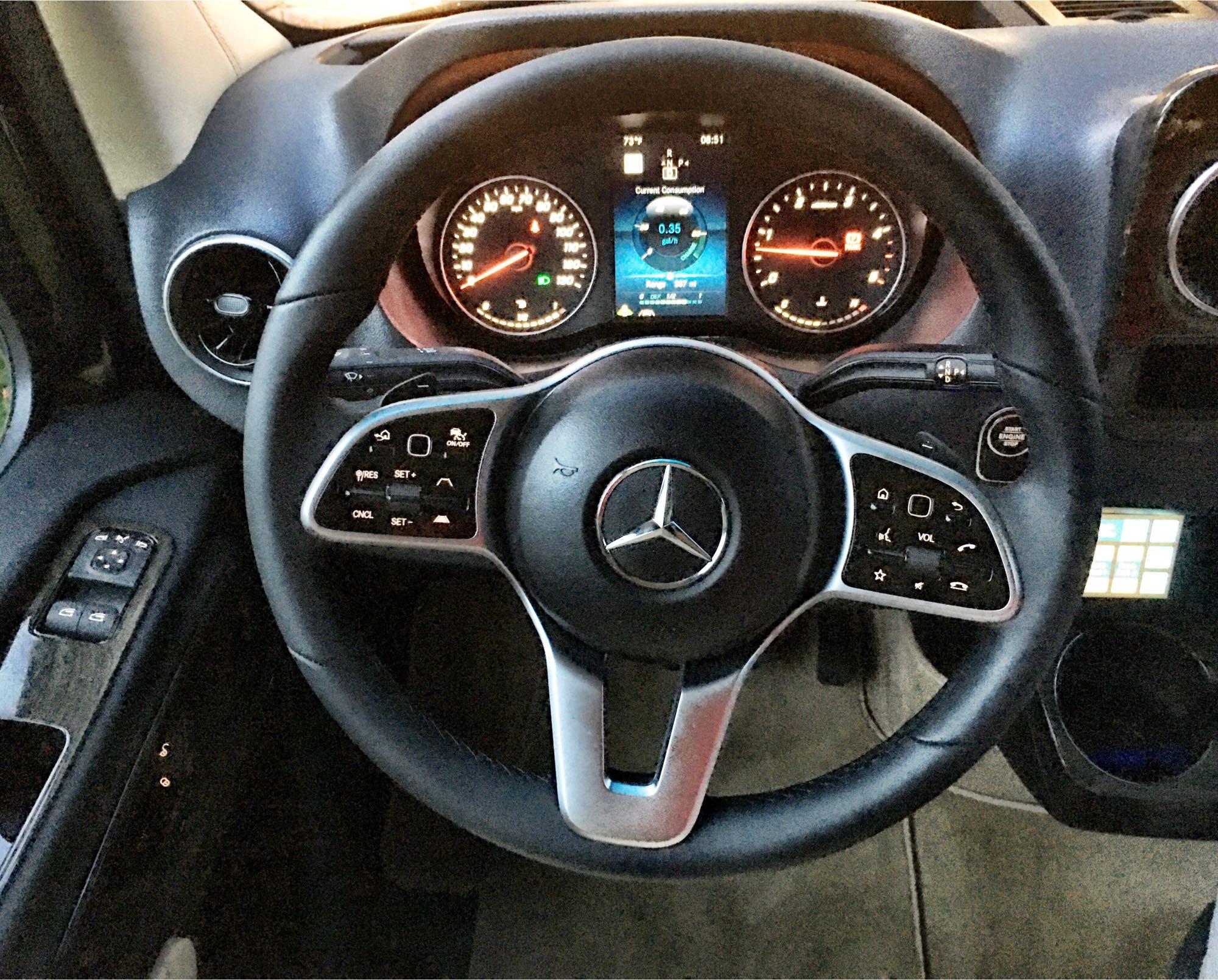 Premium soft leather steering wheel. Mercedes Sprinter: Midwest Automotive Design Sprinter 2020