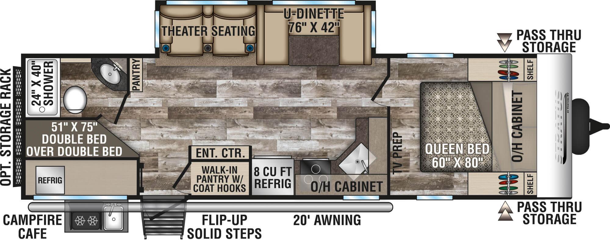 Plenty of room for your family.... VentureRv Stratus 2020