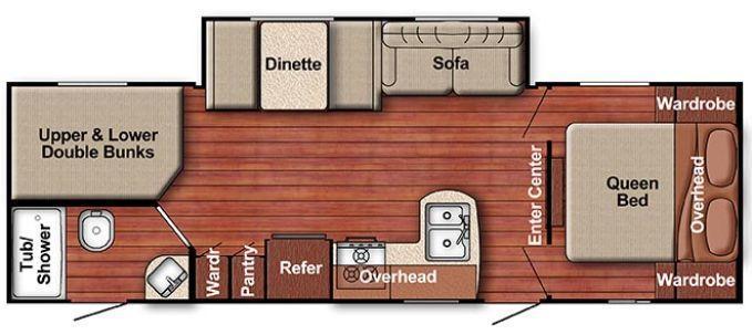 Floorplan. GulfStream Conquest268BH 2016