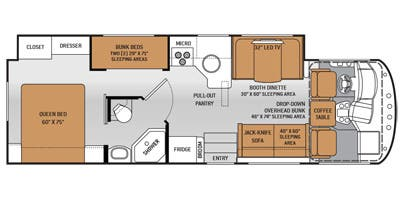 Floor Plan.. Thor Motor Coach A.C.E 2016