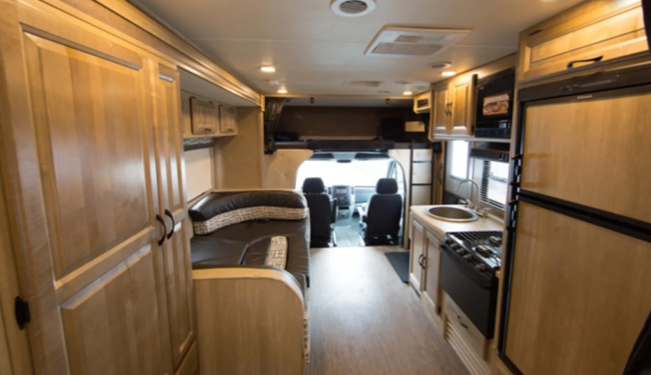 Overhead bunk sleeping. Mercedes-Coachmen Prism 2016