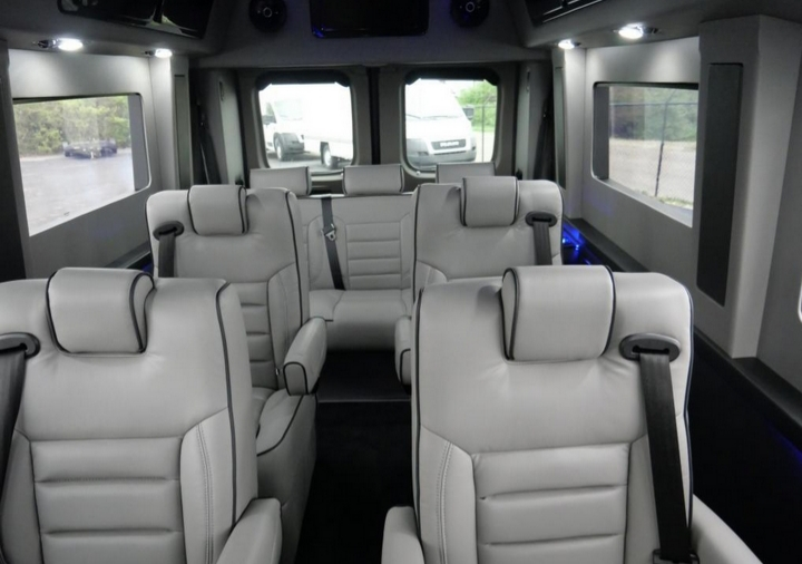 Four captain chairs swivel and recline. Ram Promaster 2019