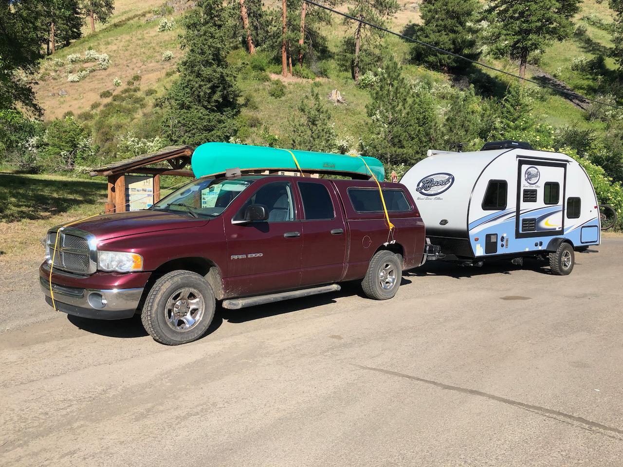 RAM 1500 with R-Pod in Wallowa County. R-Pod RP 182G 2017