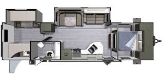 Floorplan - master and bunk room have doors to create separate living areas. Open Range 3110BH 2017