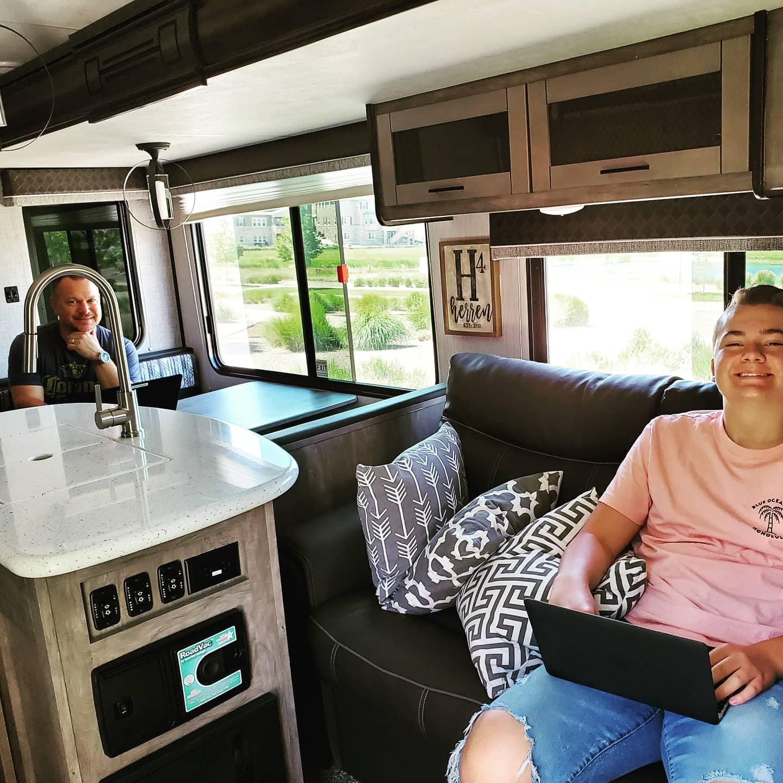We love our RV! Roomy!. Heartland North Trail 2020