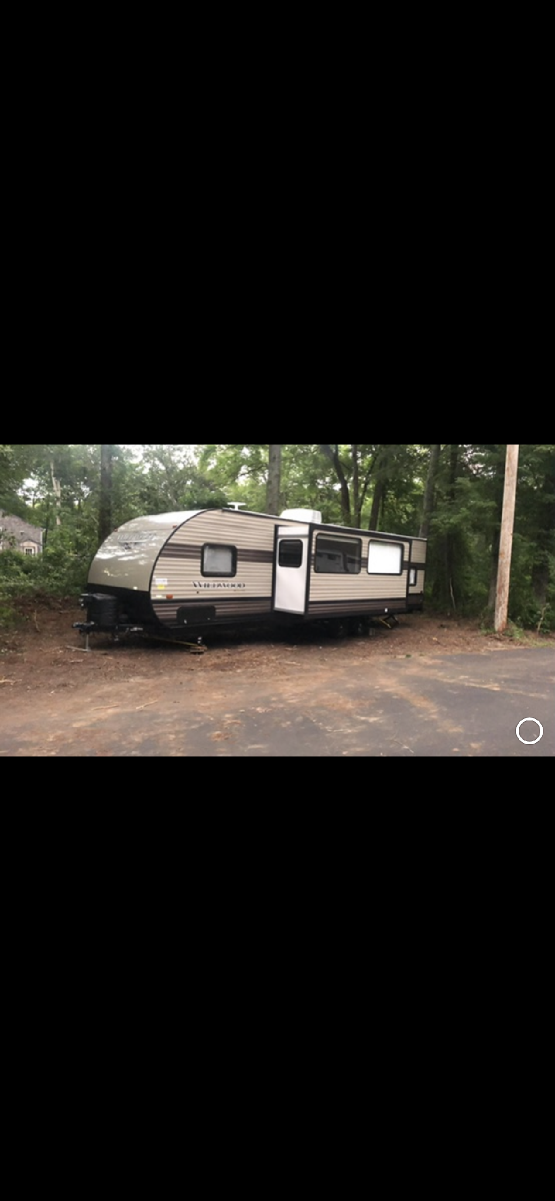 Our trailer waiting to be stored for winter! . Forest River Wildwood xlite 2019