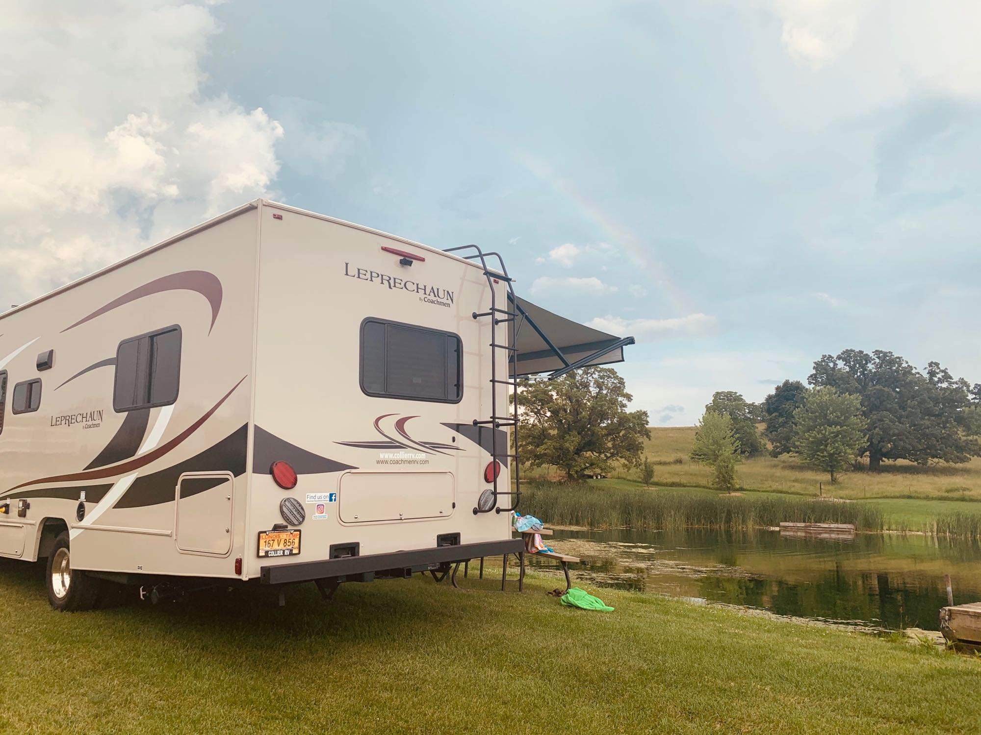 This could be you!  Camping near Galena, IL.. Coachmen Leprechaun 2020